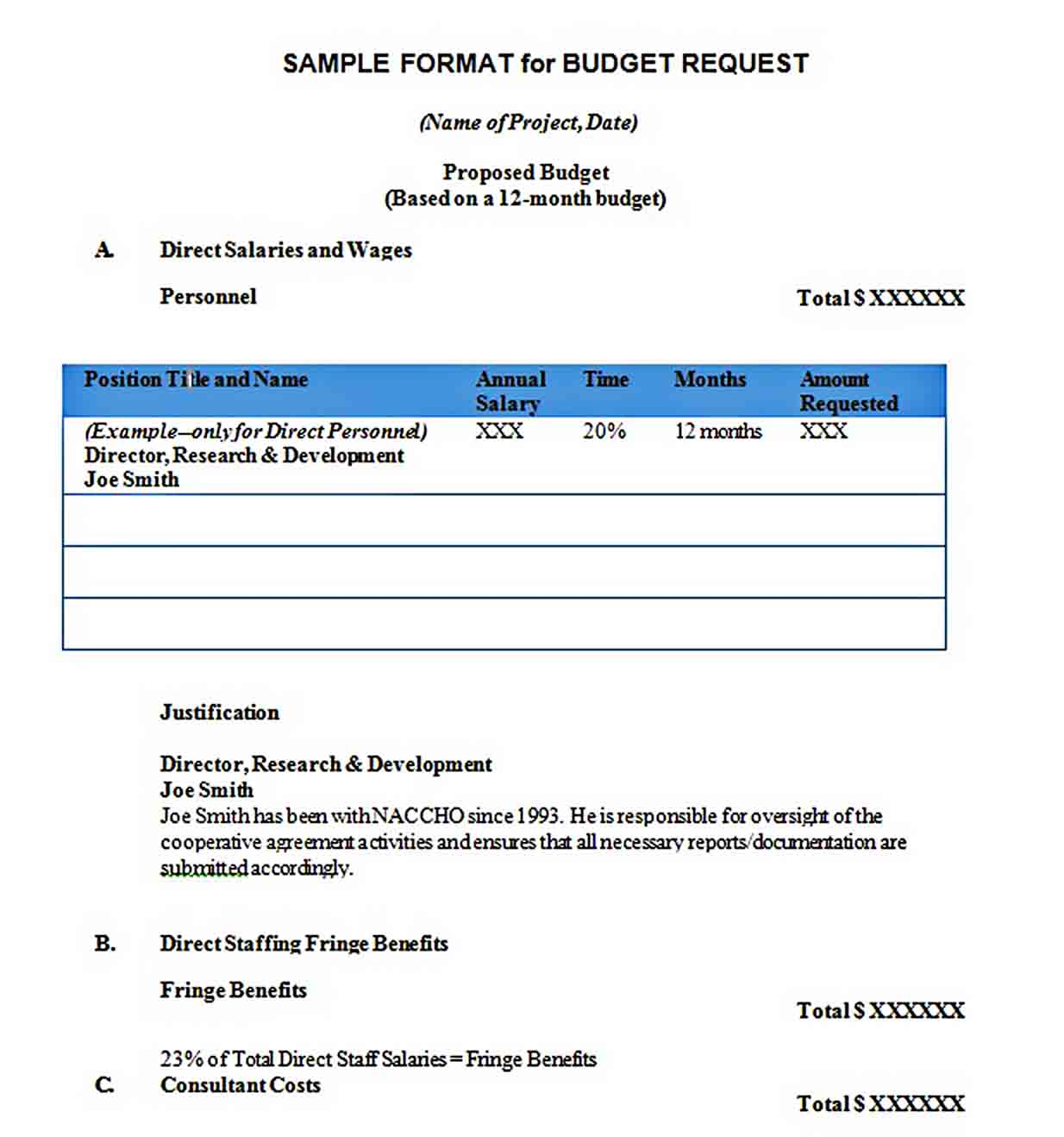 Mentorship Project Sample Budget Proposal Template sample