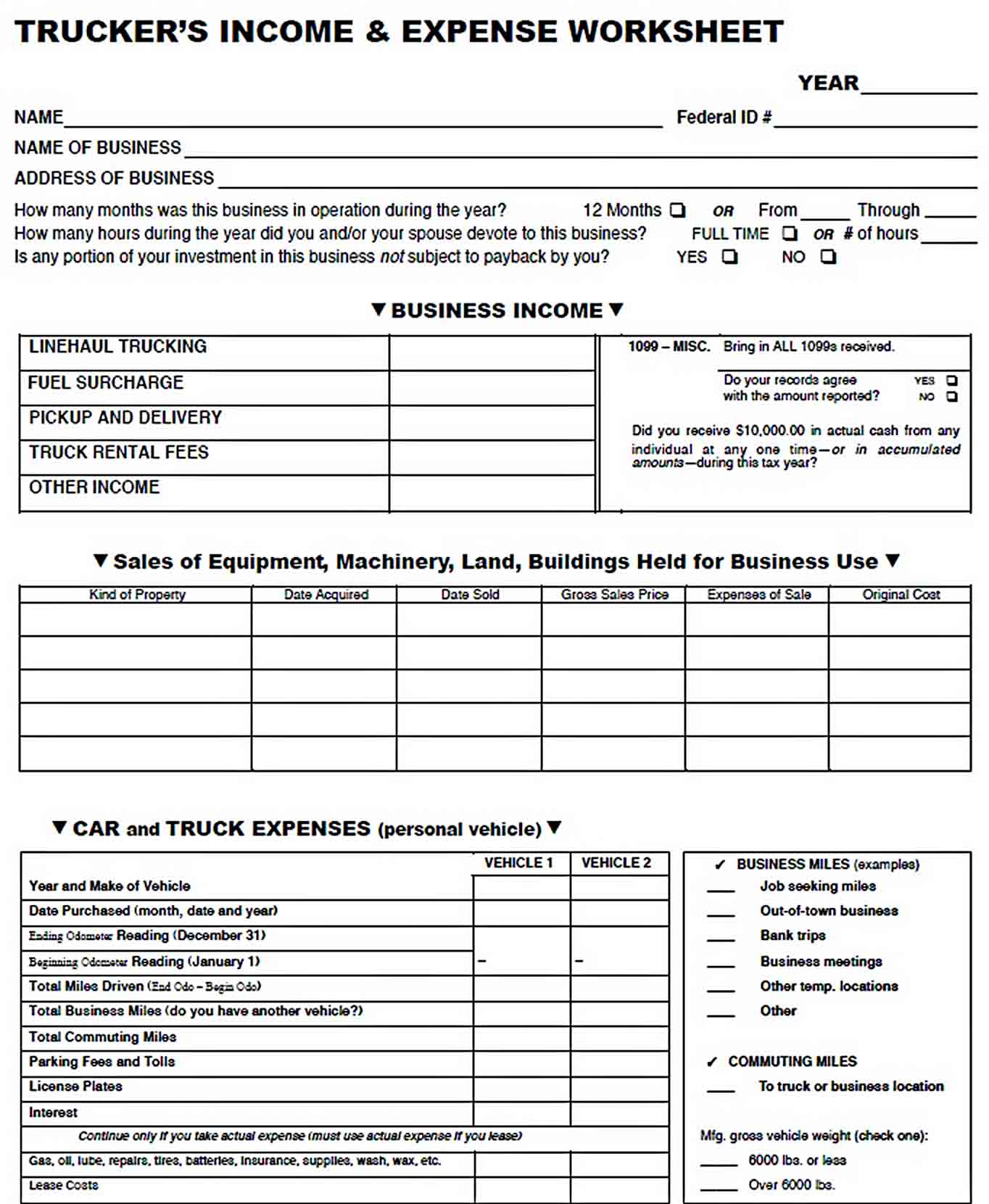 Trucking Company Budget Template sample