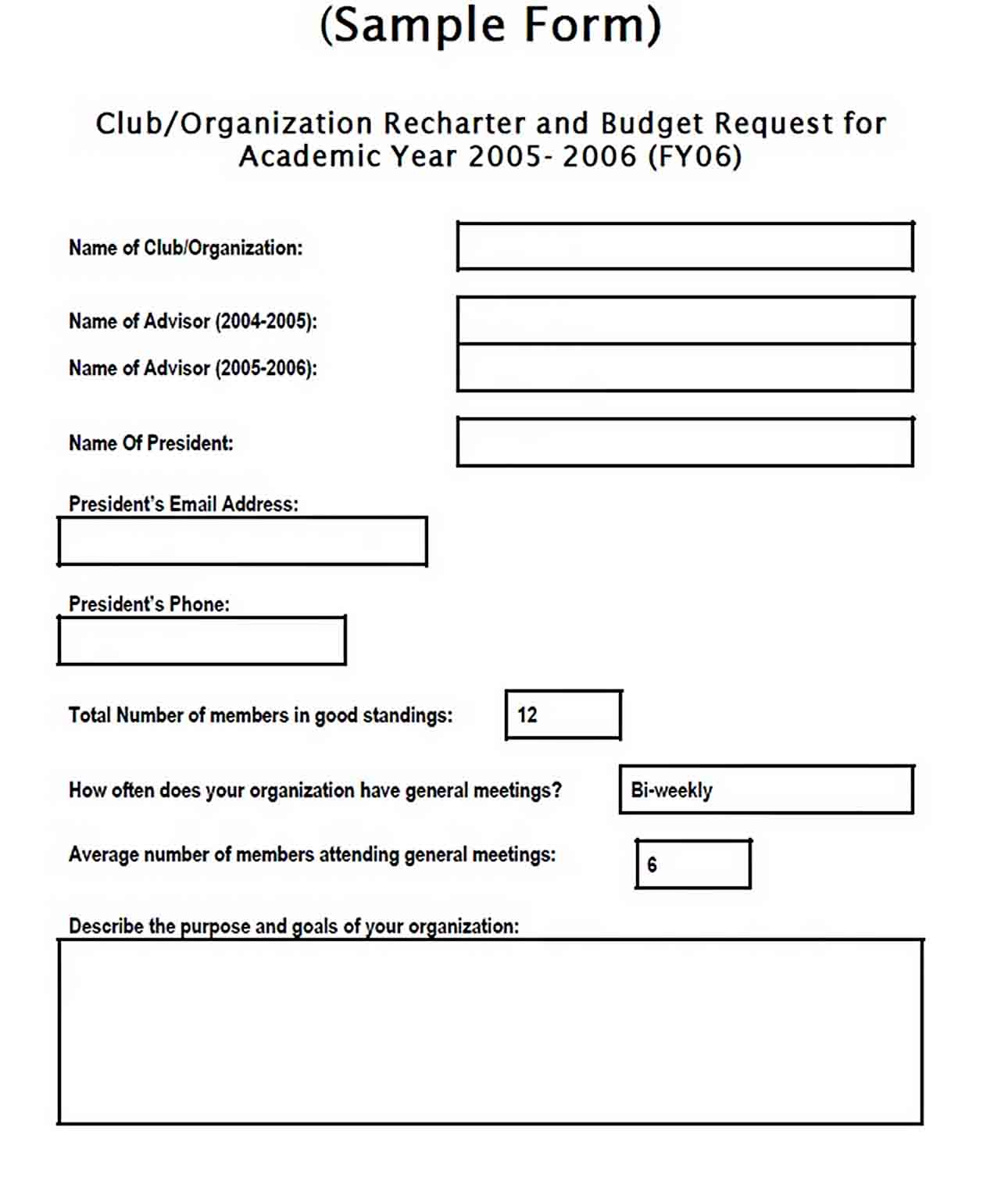 simple college budget template sample