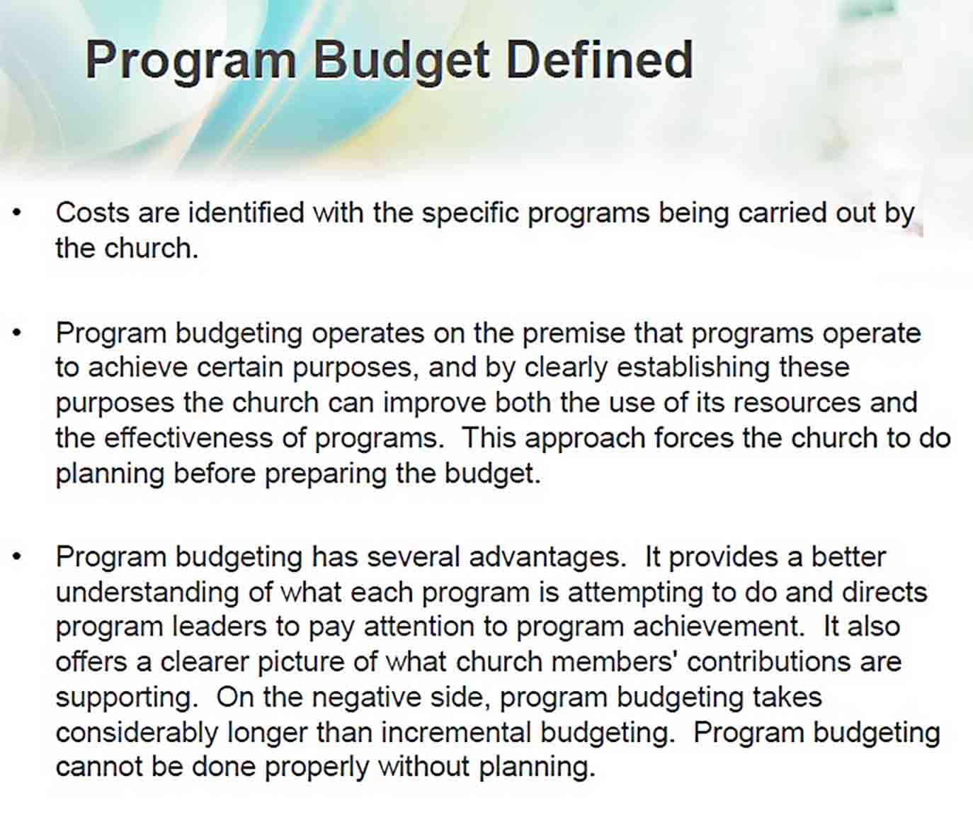 small church budget sample PDF Download sample