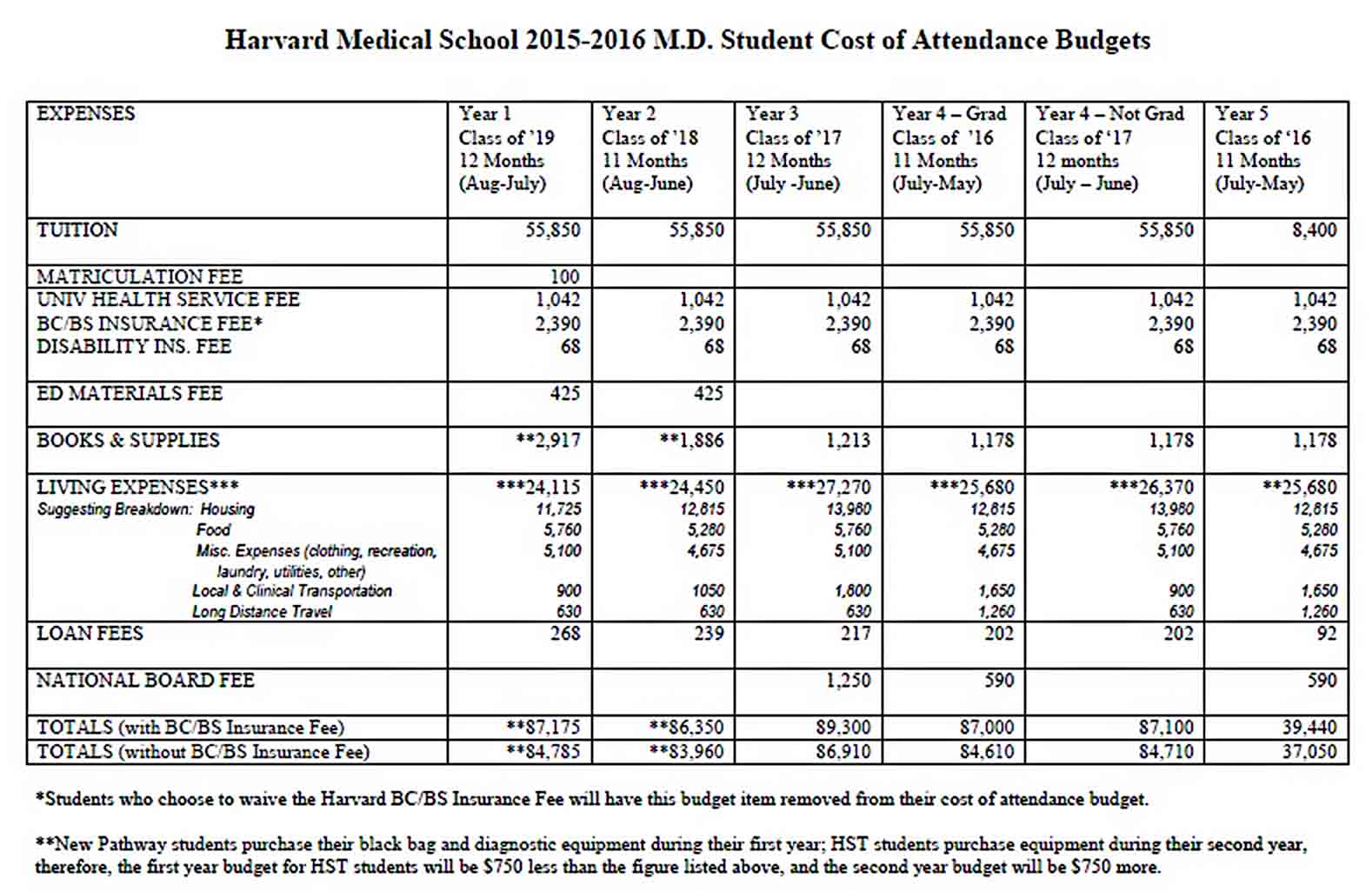 Medical School Budget Template sample