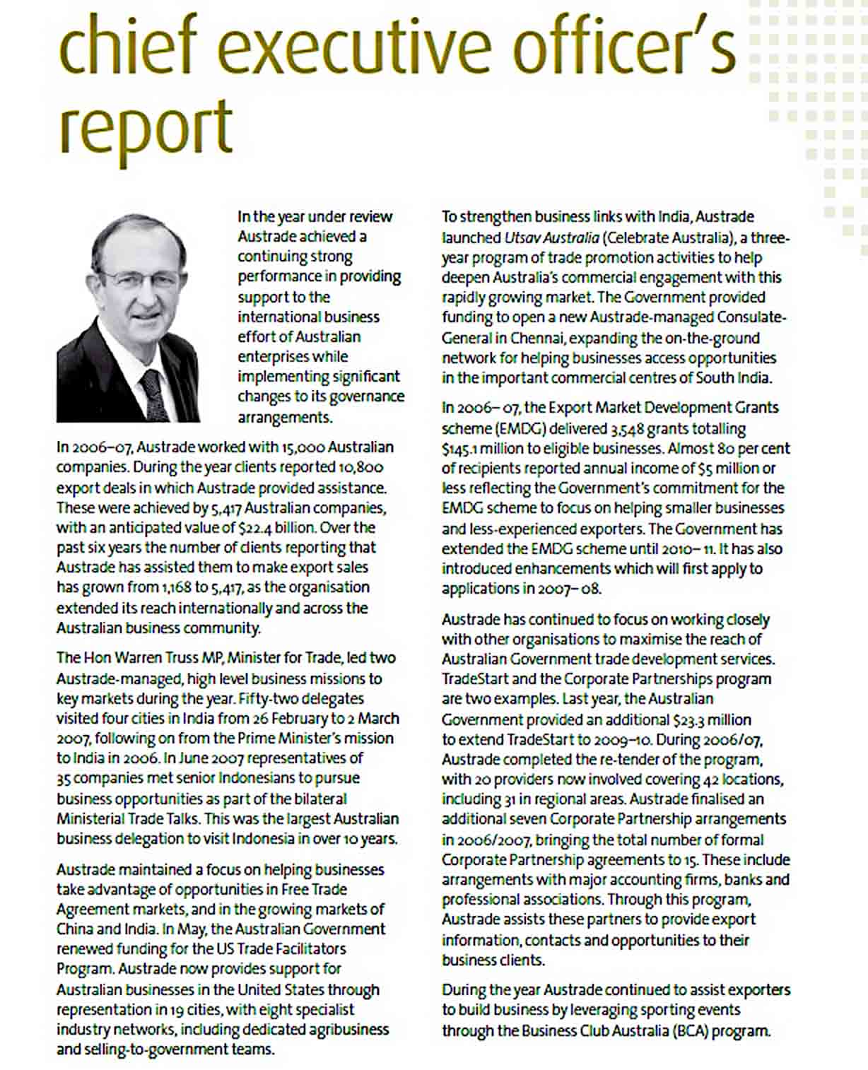 Templates Annual CEO Report