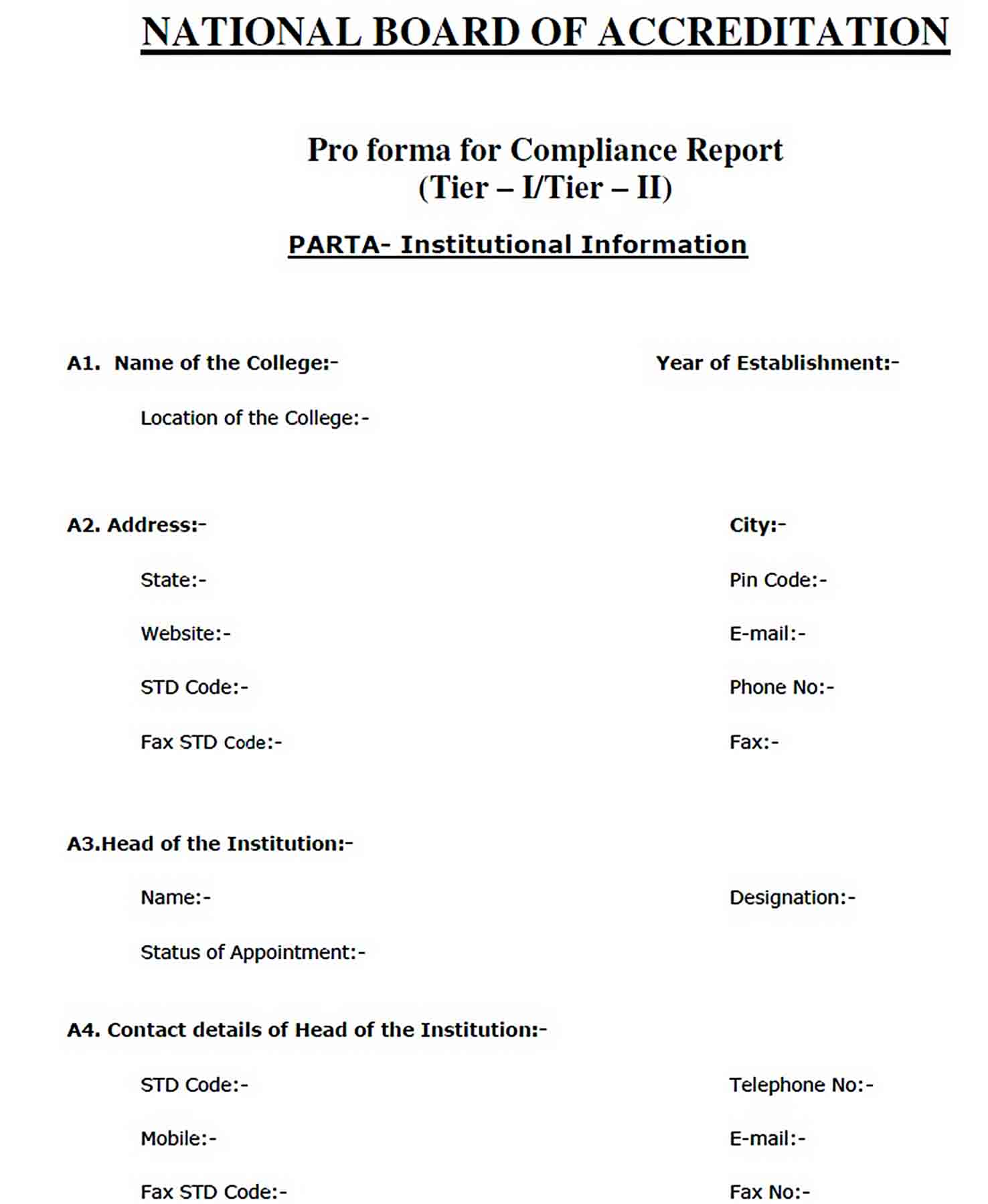 Templates Board Compliance Report