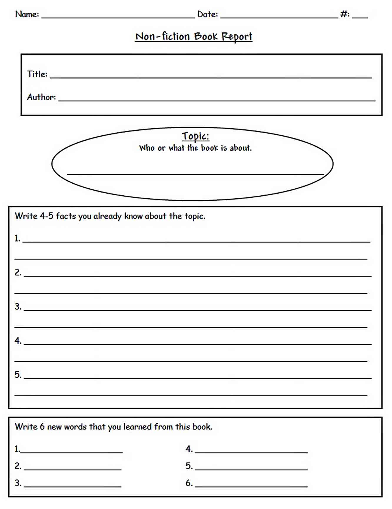 Templates Non Fiction Book Report Format