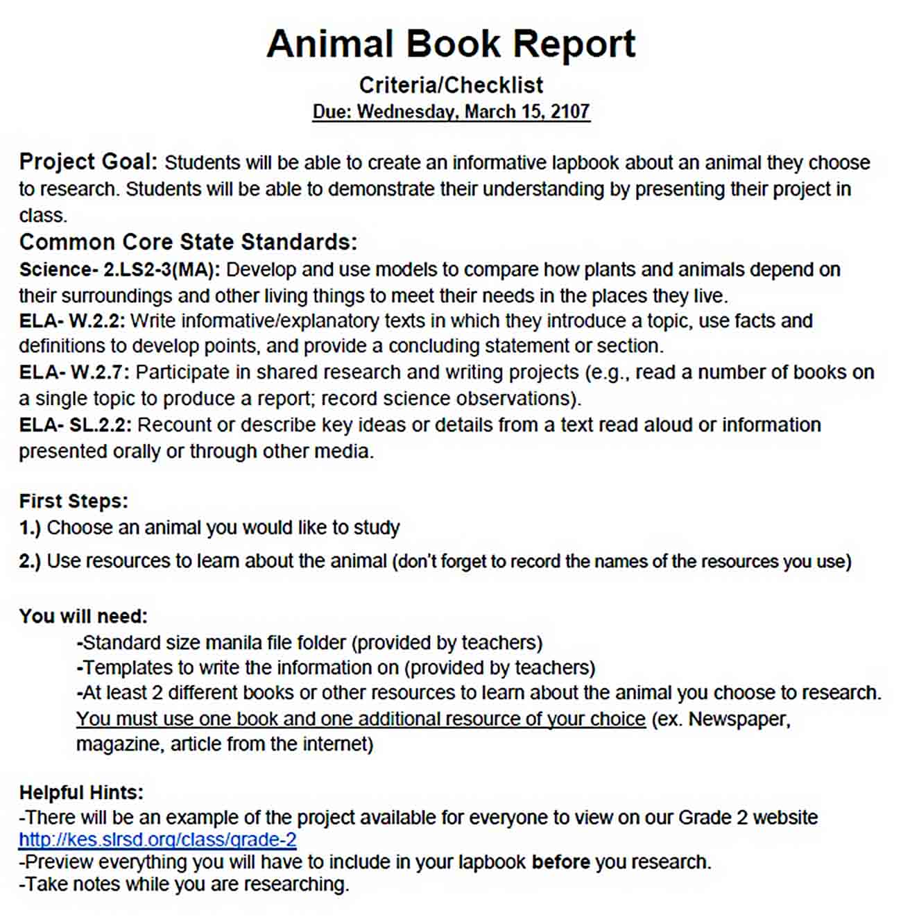 Templates Animal Book