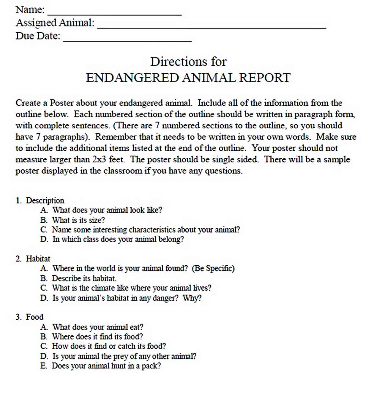 Templates Animal Report