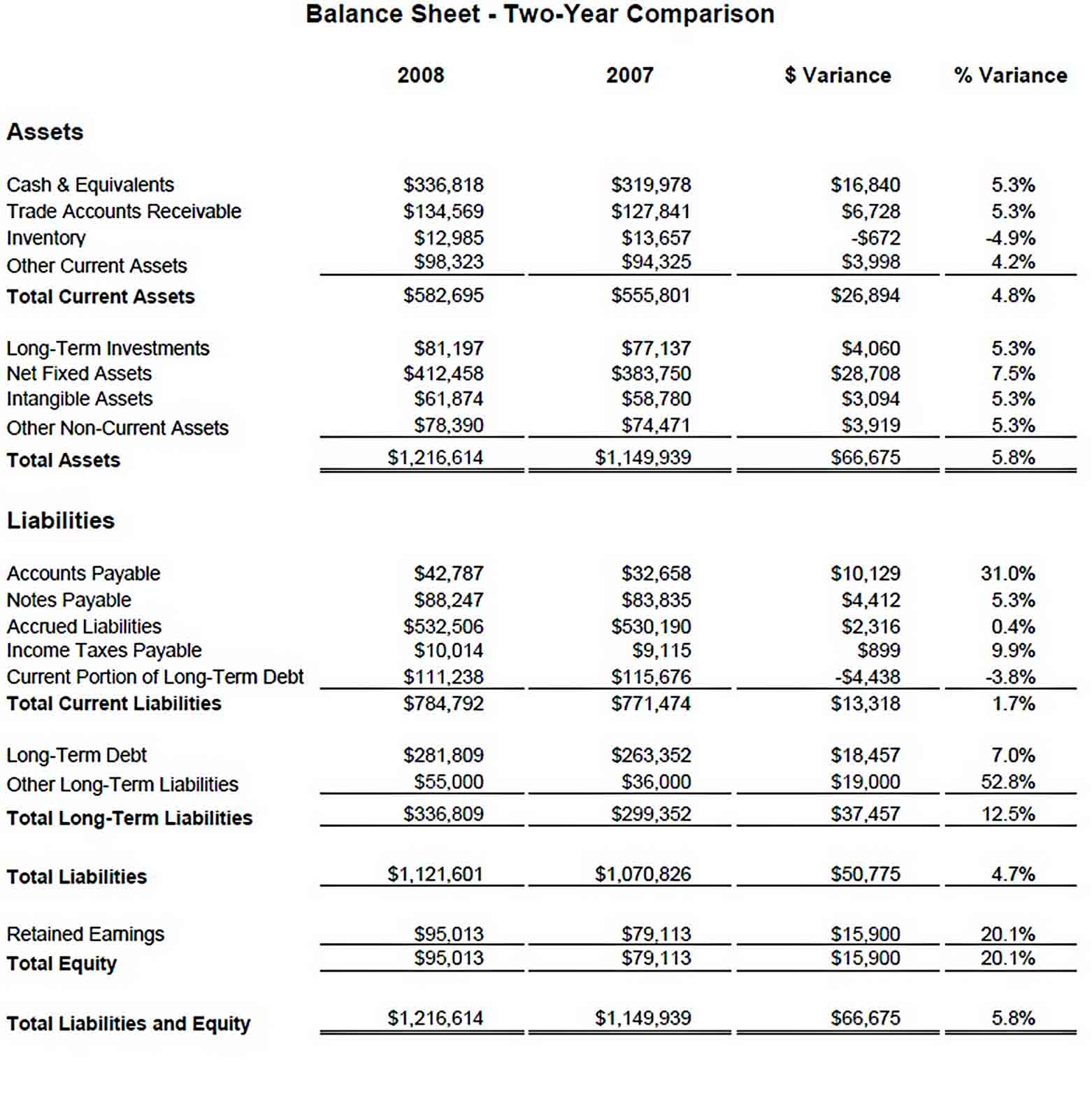 Templates Company and Financial Analysis Report