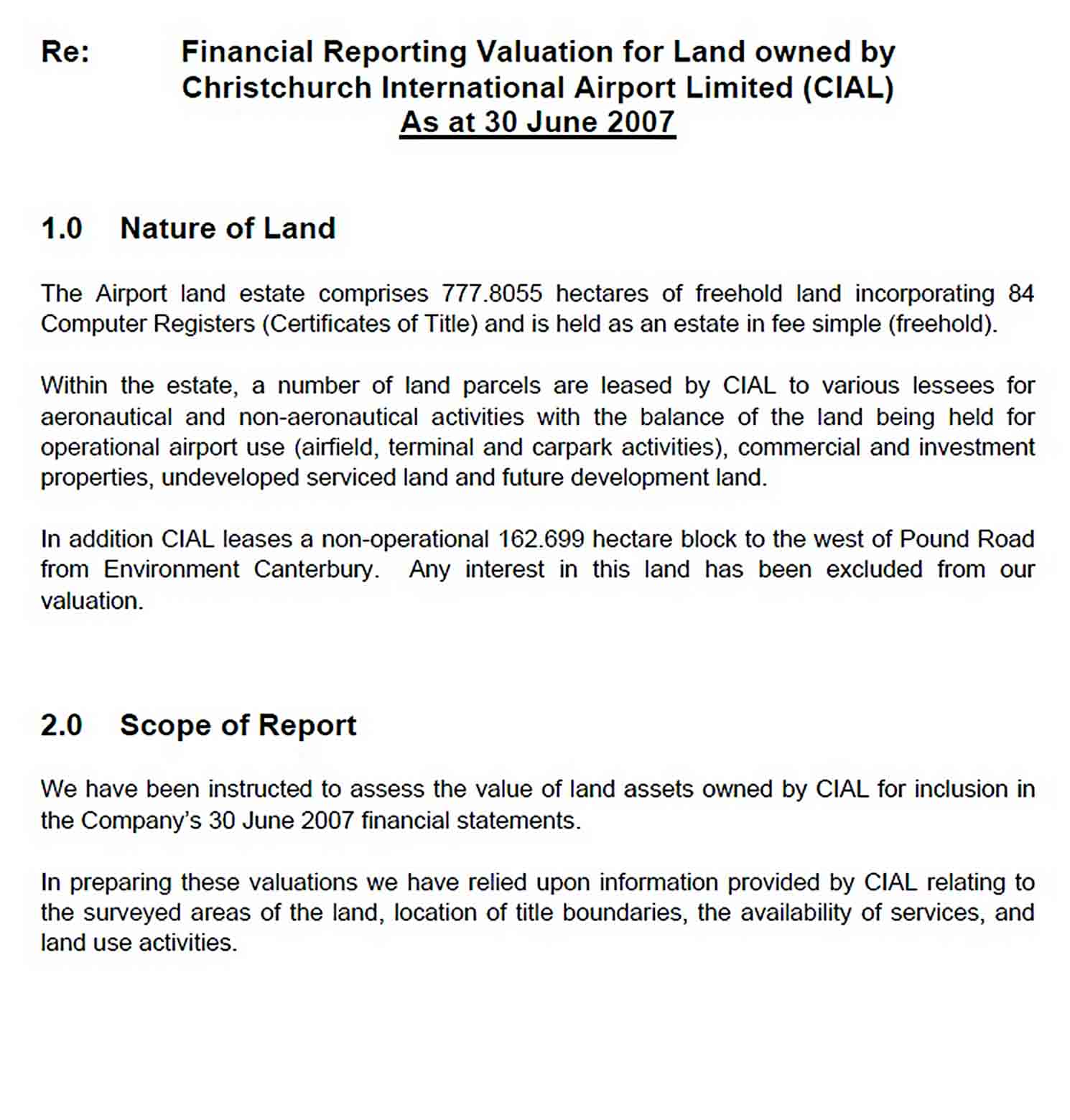 Templates Land Assets Valuation Report