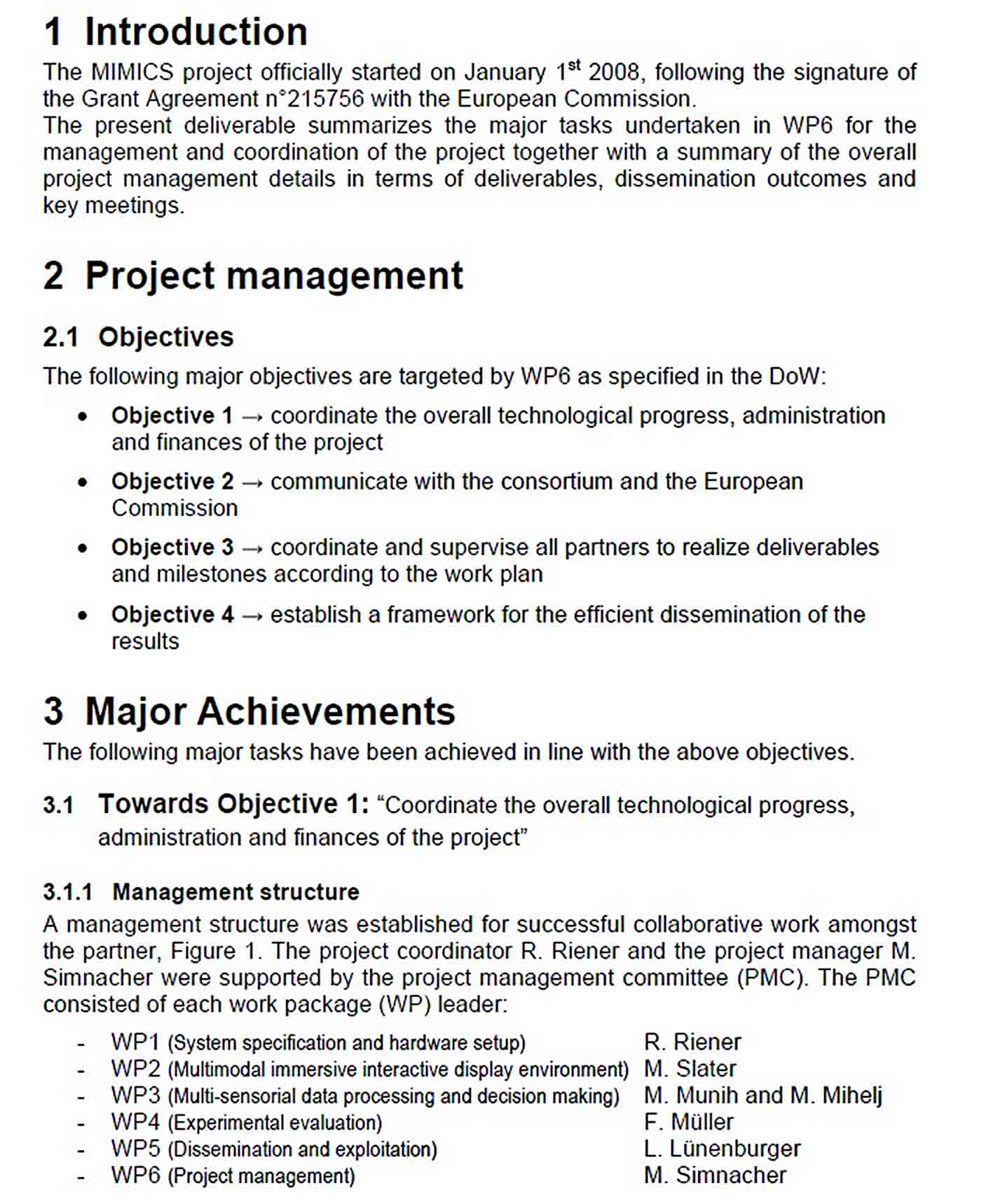 Templates Sample Project Event Management