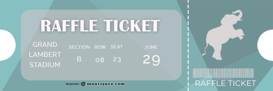 raffle ticket in photoshop