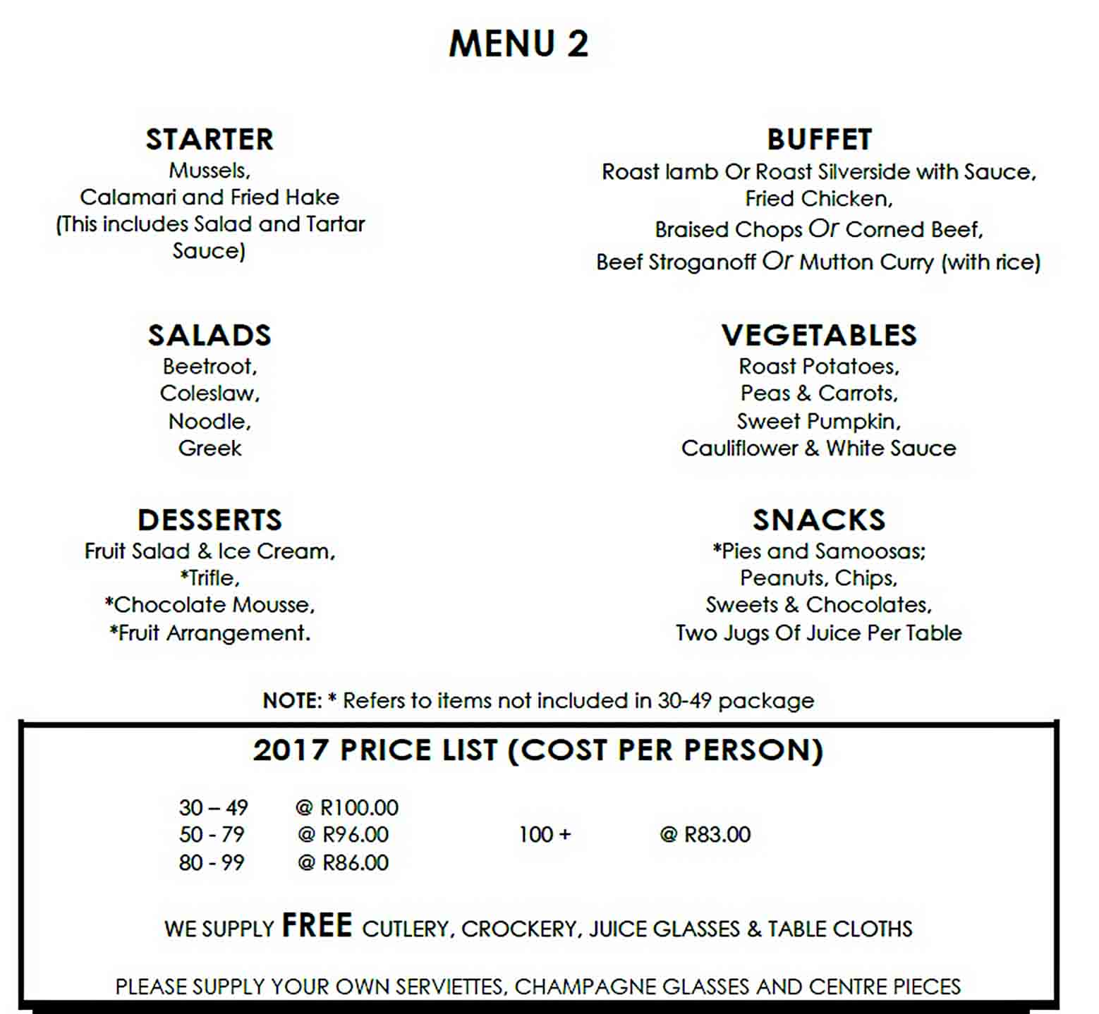 Catering Budget Format Template sample