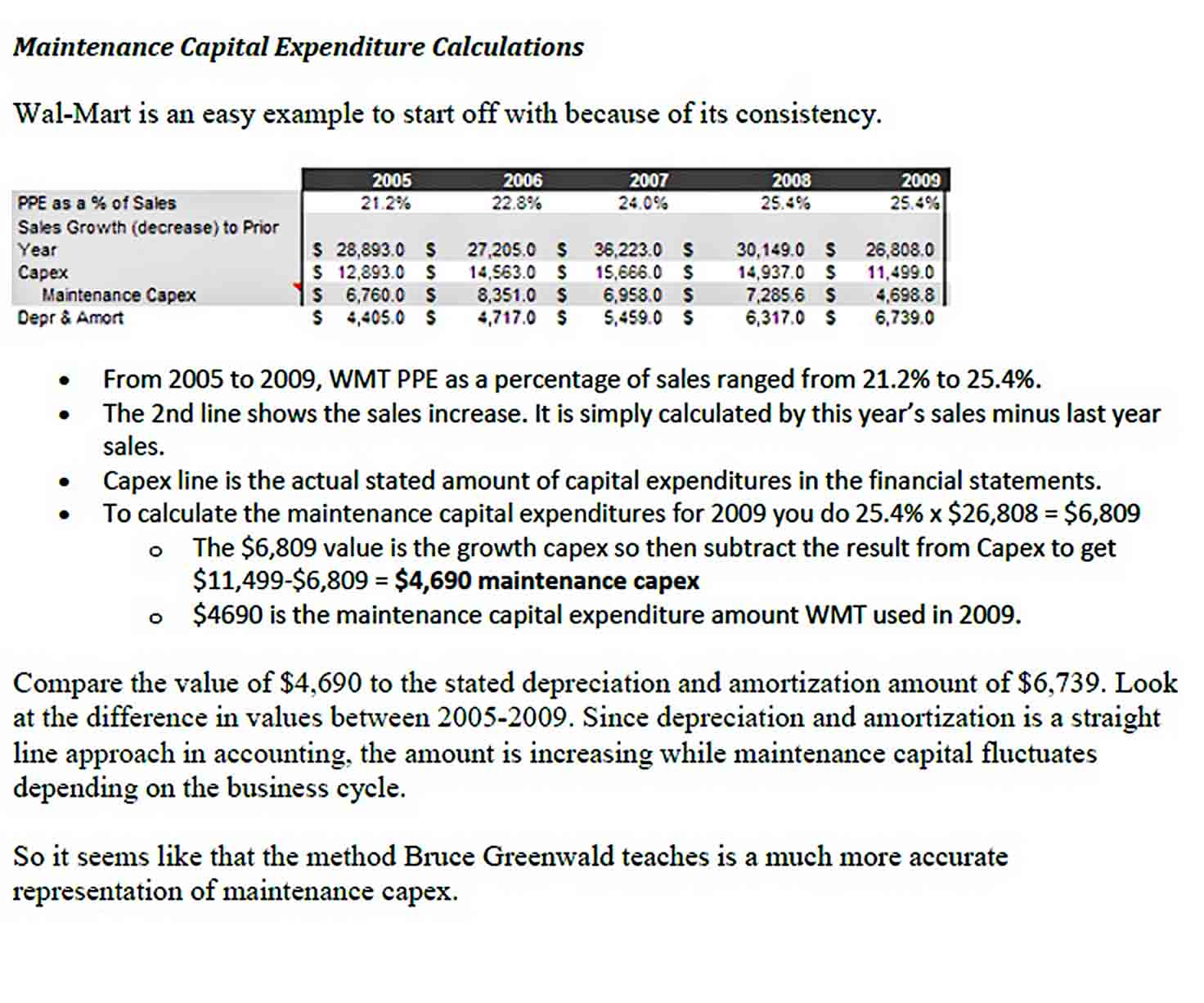 Example Maintenance Capital Expenditures PDF Format sample