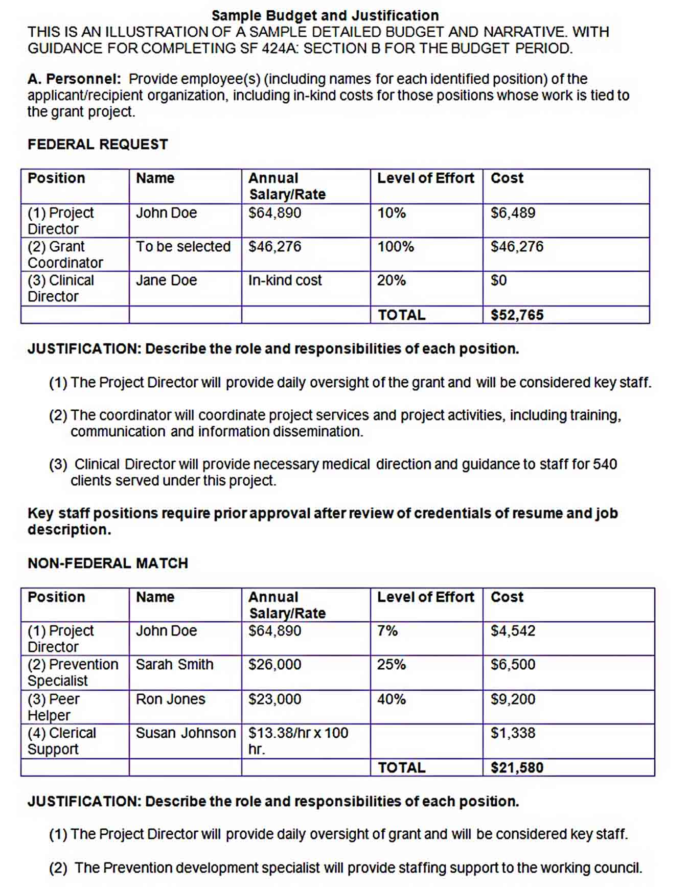 Sample Government Project Department Budget Template sample
