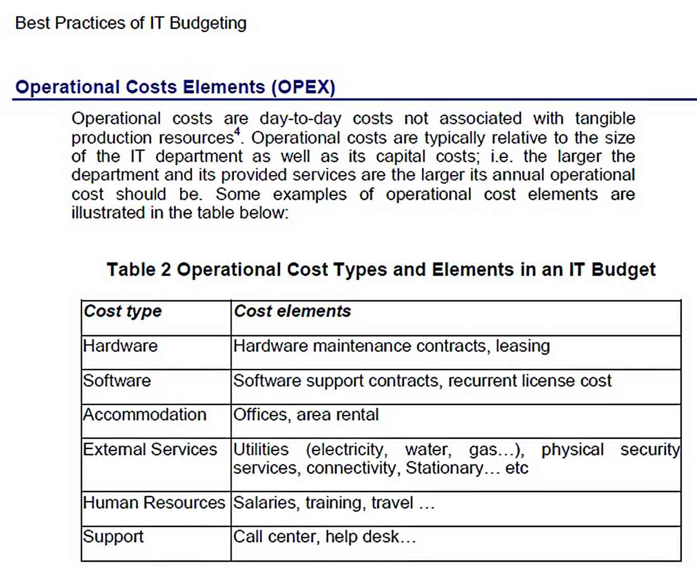 Simple IT Budget Template Excel Download sample