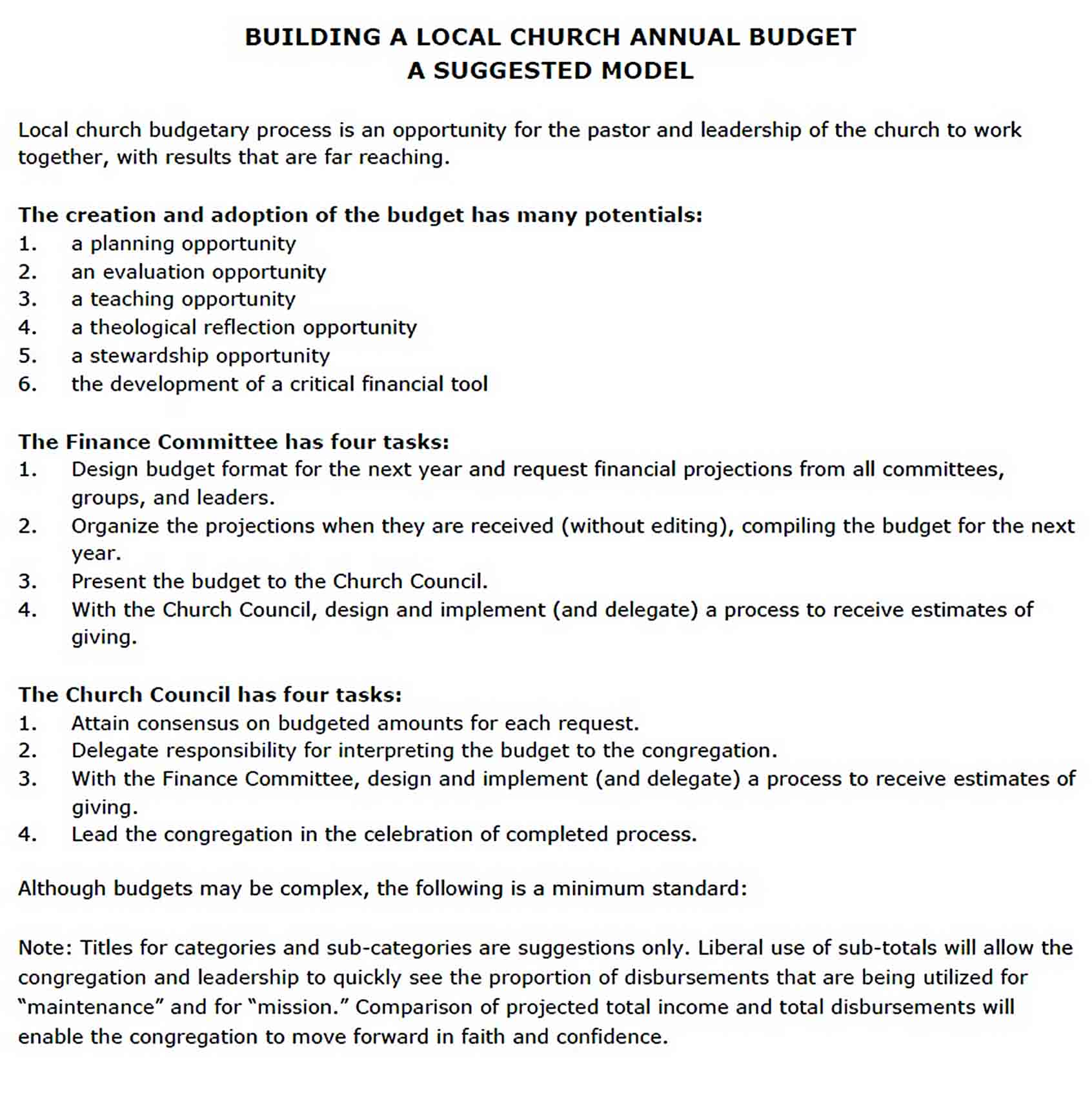 annual church budget template PDF Download sample