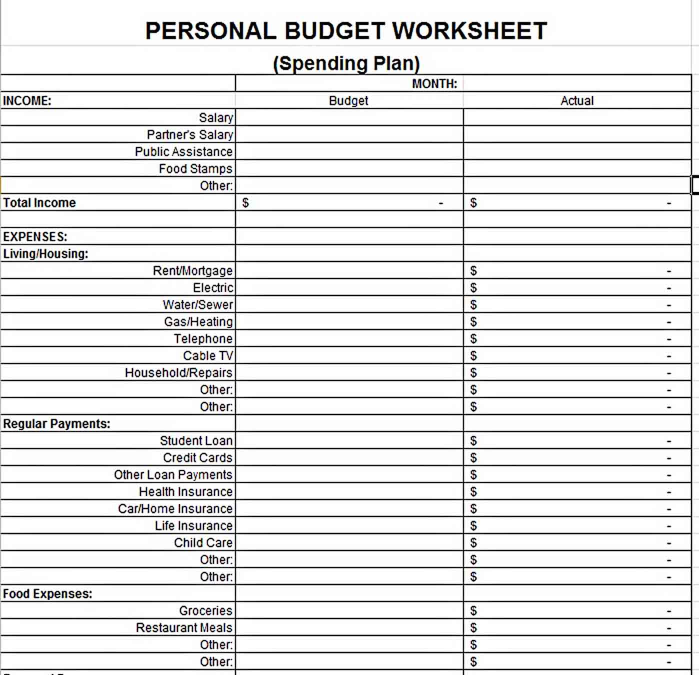 e collected some Sample Budget Tracking Te sample