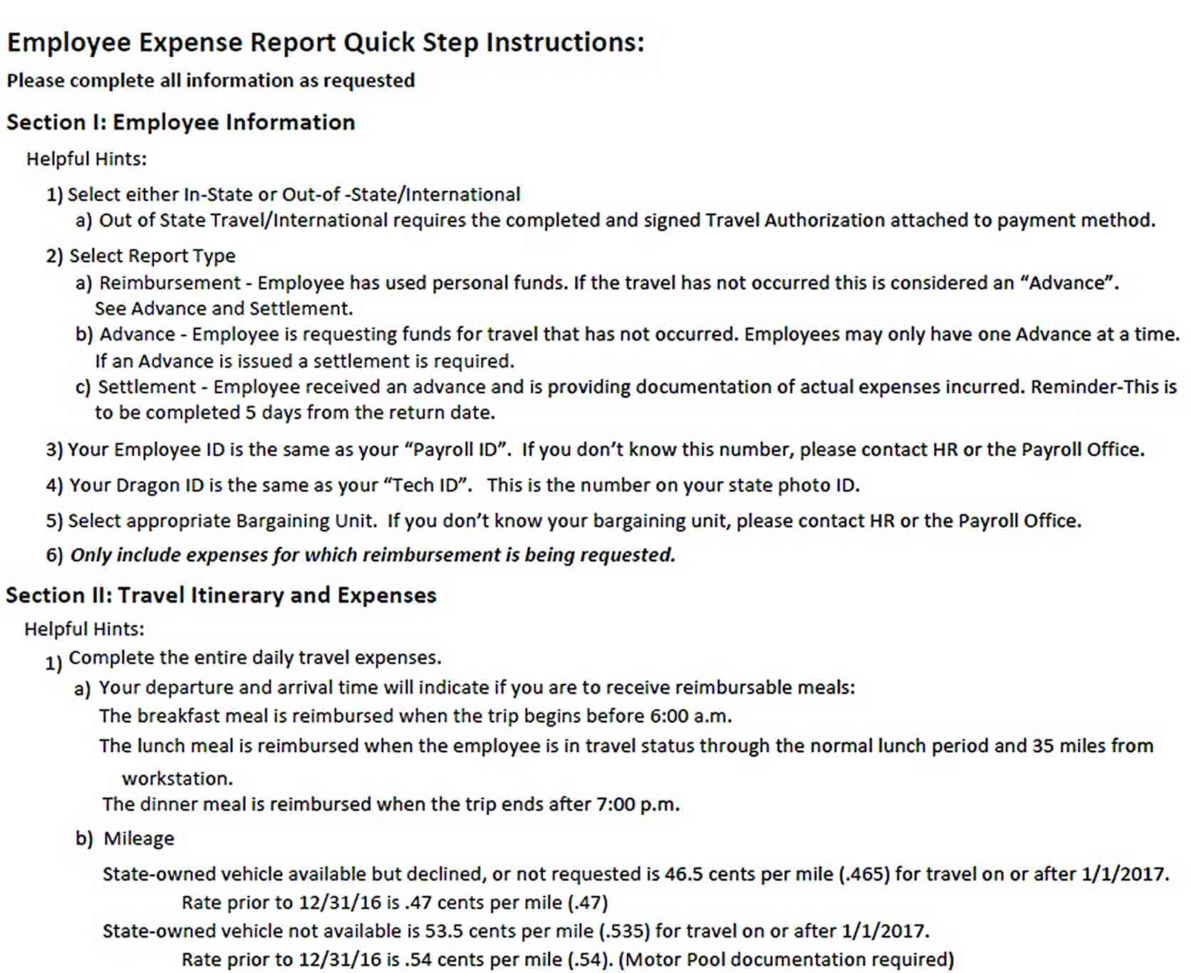 Templates Daily Expense Report Format