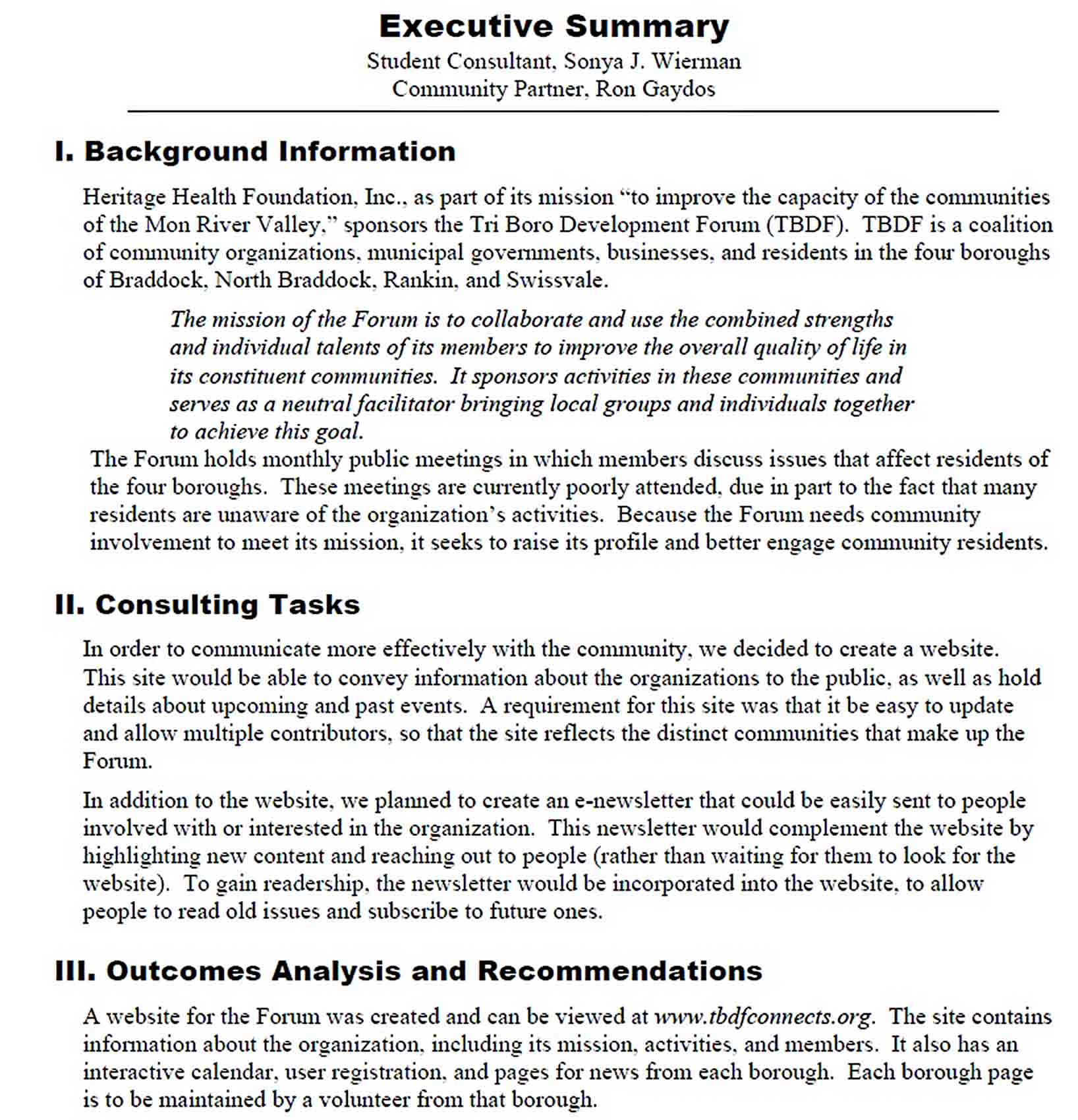Templates Final Consultant Report