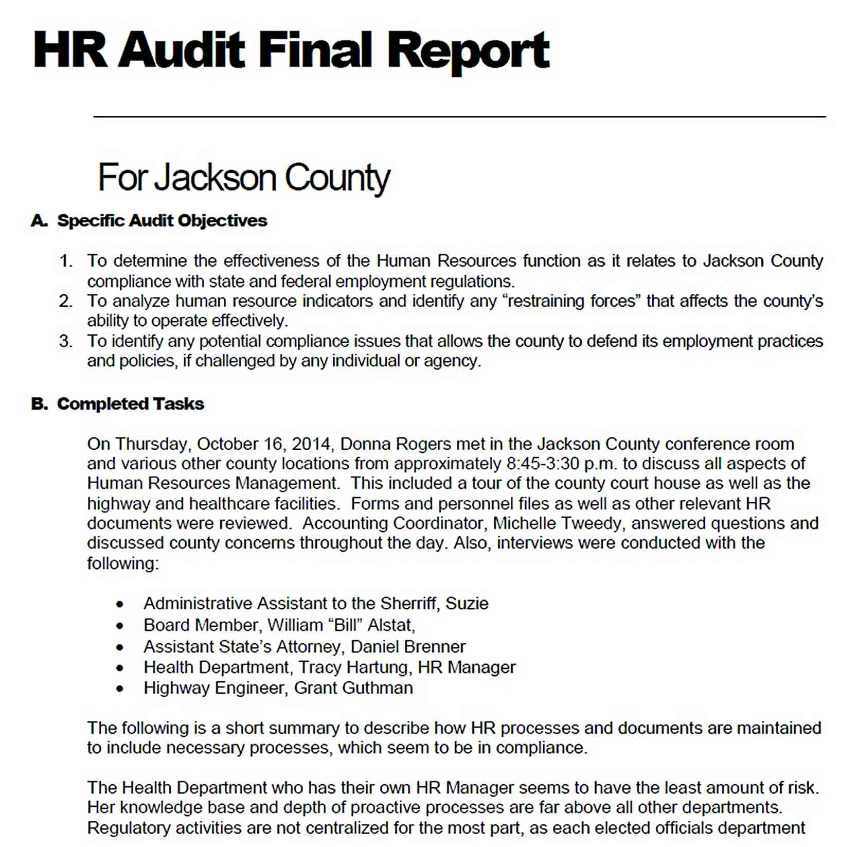 Templates HR Audit Final Report