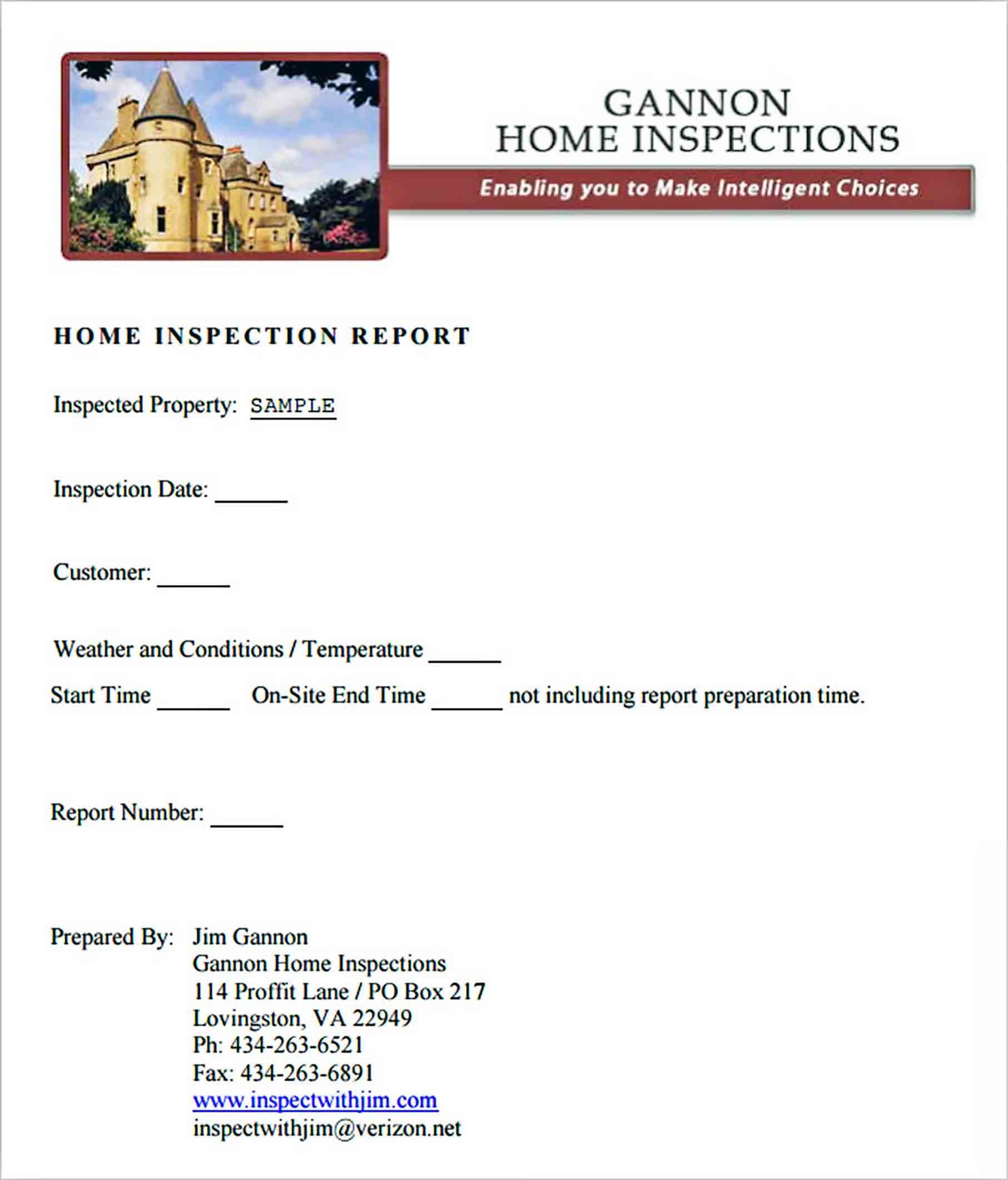 Templates Home Inspection Report 001