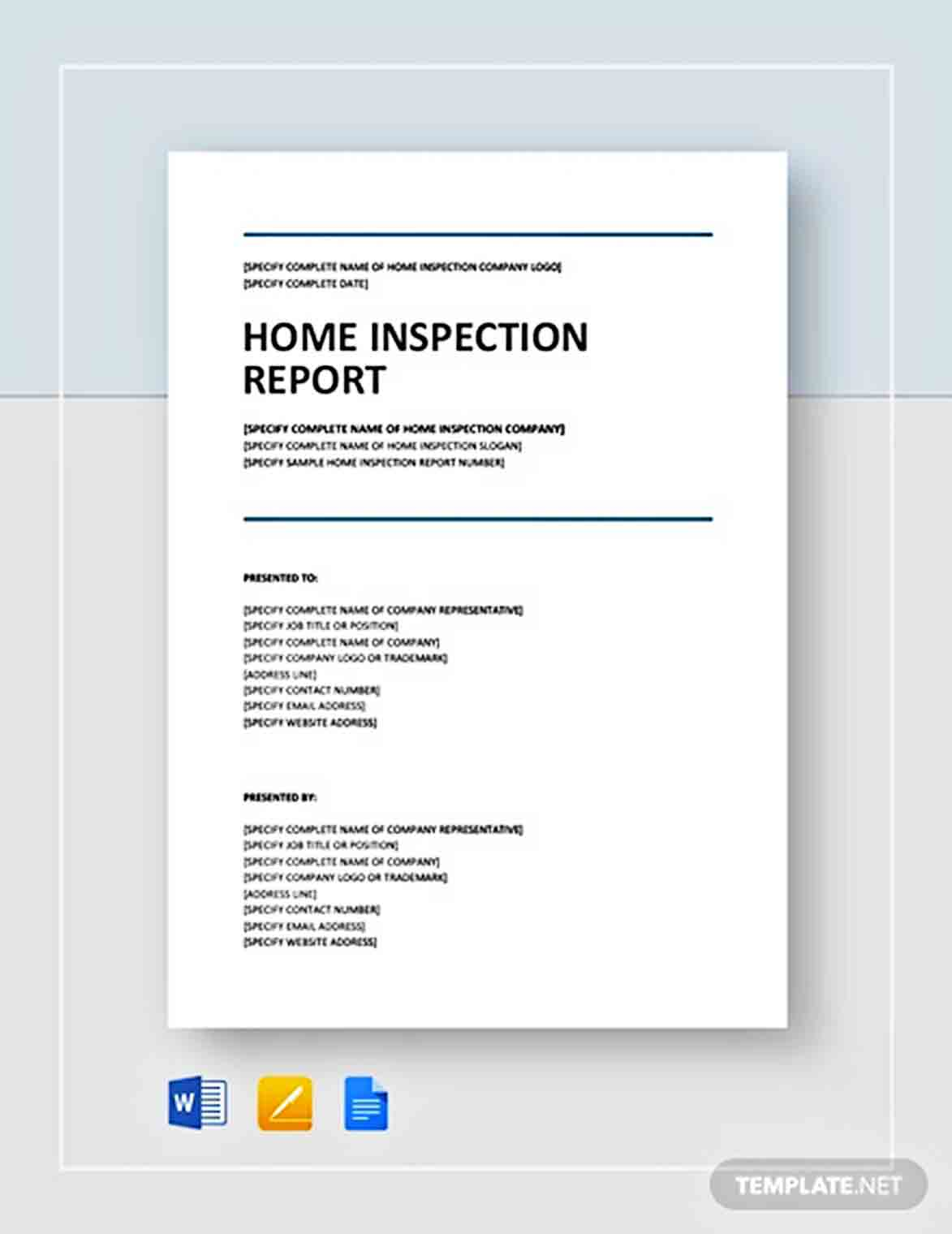 Templates Home Inspection Report 002