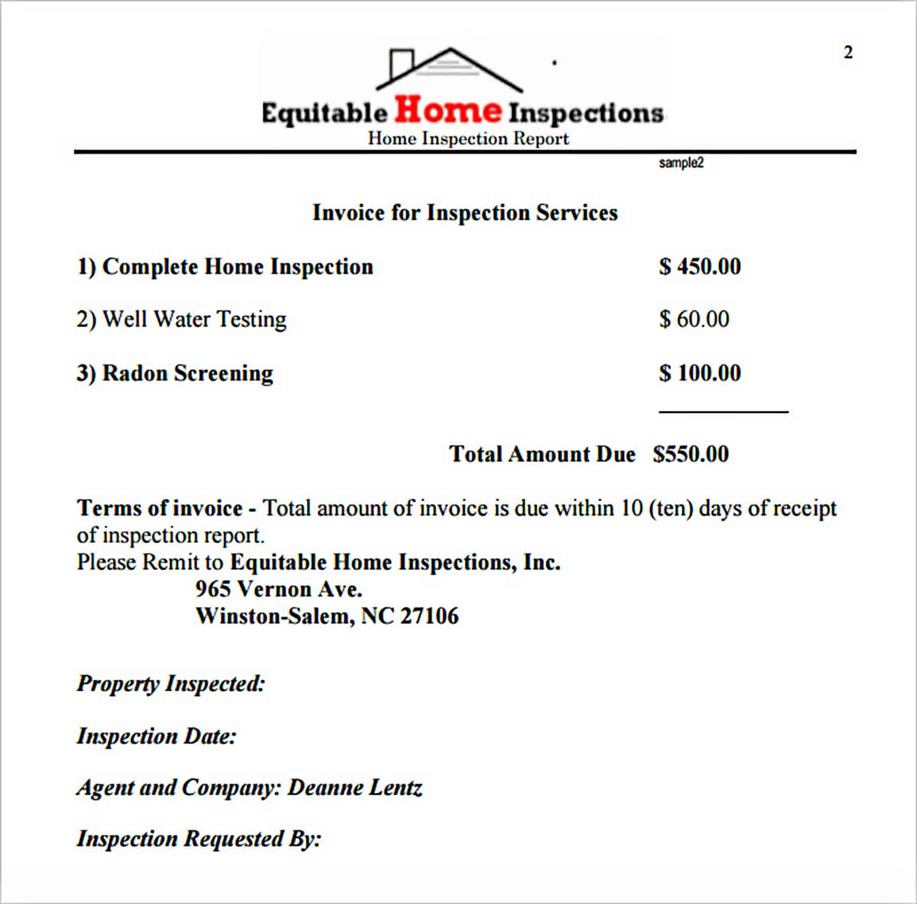 Templates Sample Home Inspection Report Download