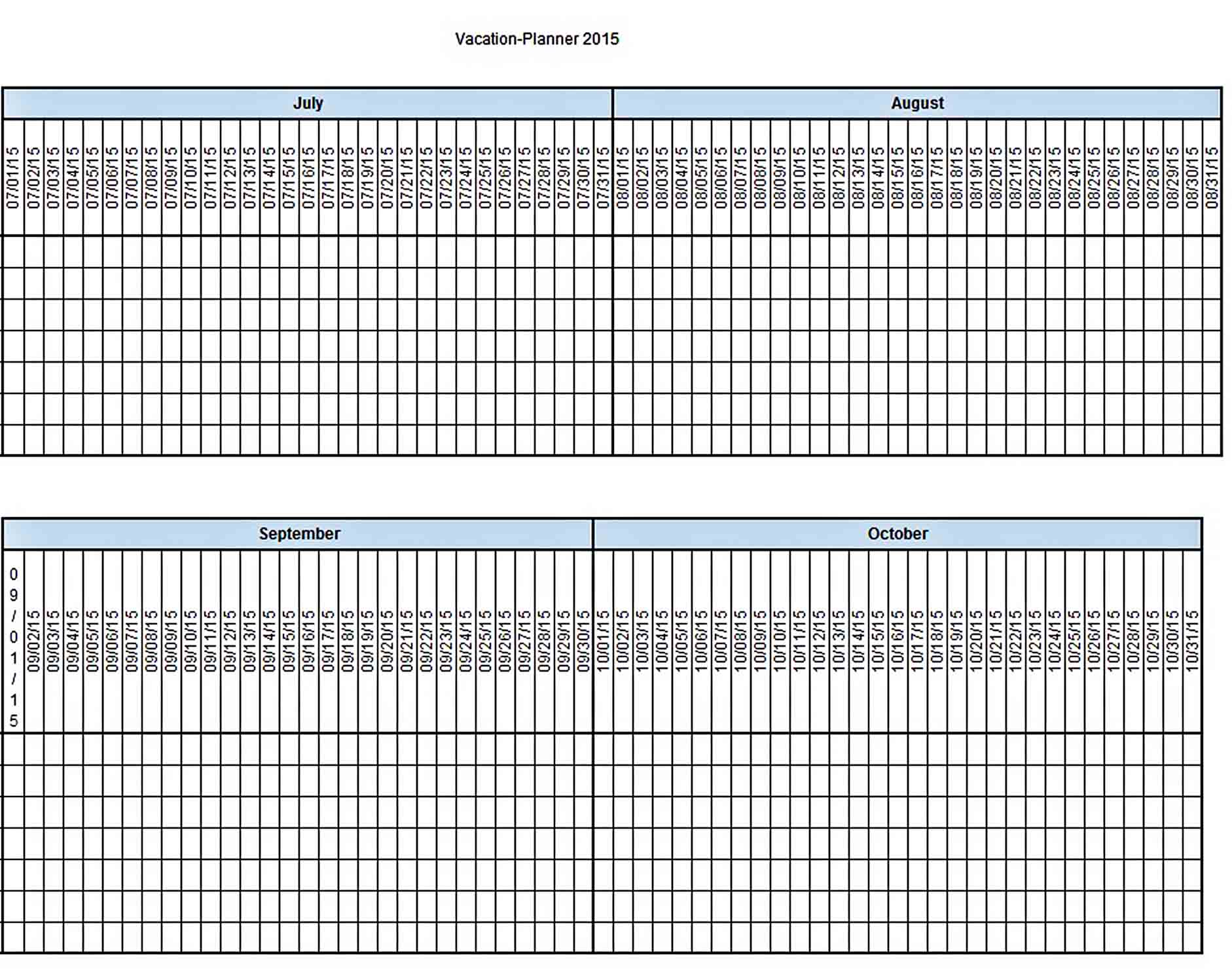 vacation budget planner Excel Format sample