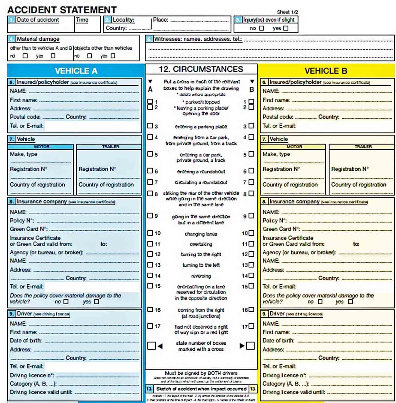 Templates Accident Report Sample Download
