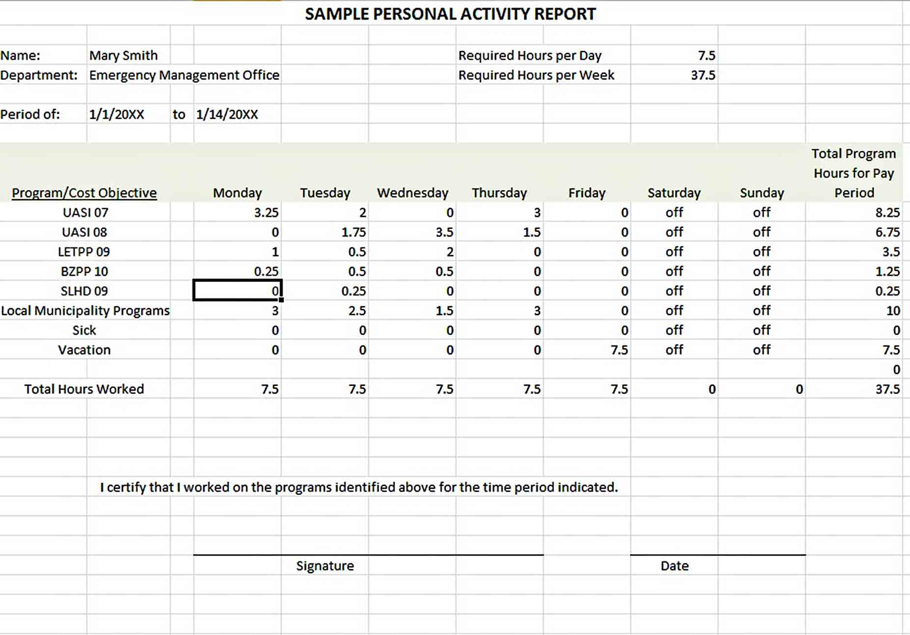 Templates Activity Report Excel