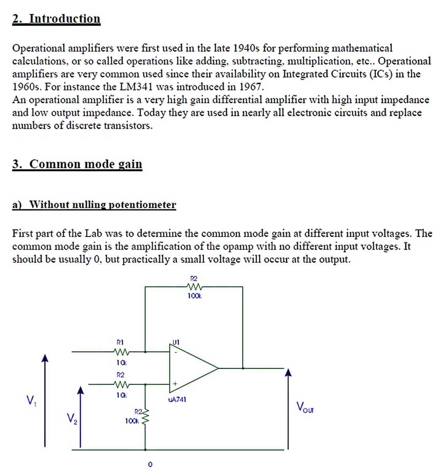 Templates Analogue Electronics Lab Report