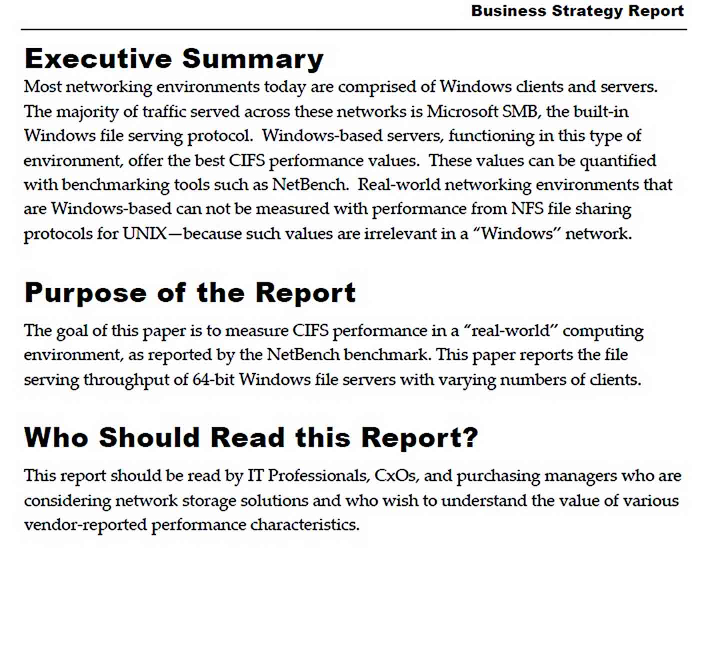 Templates Business Strategy Report