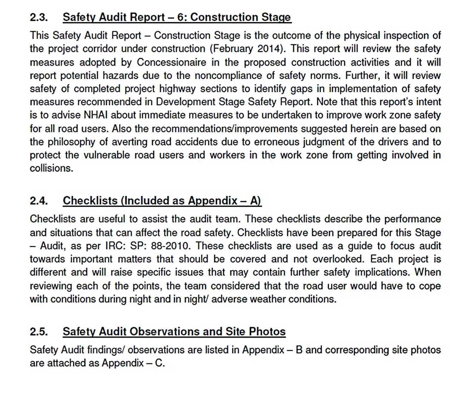 Templates Construction Safety Audit Report