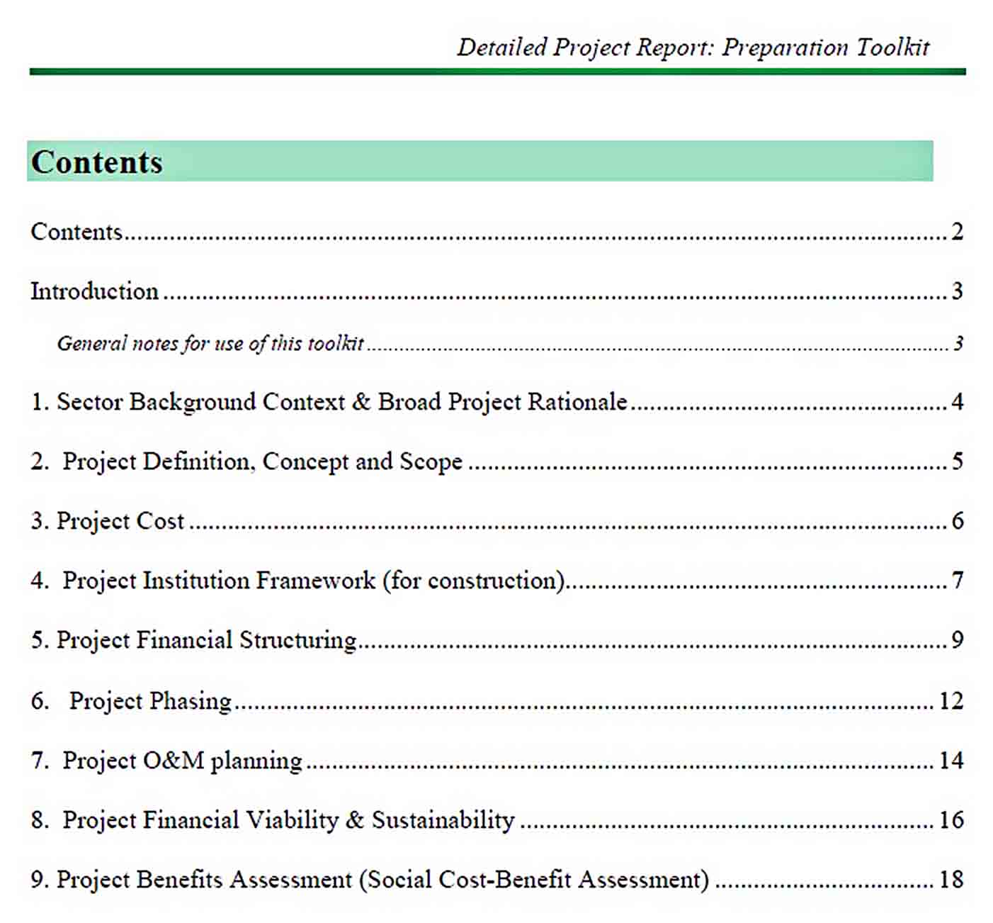 Templates Detailed Project Report Format