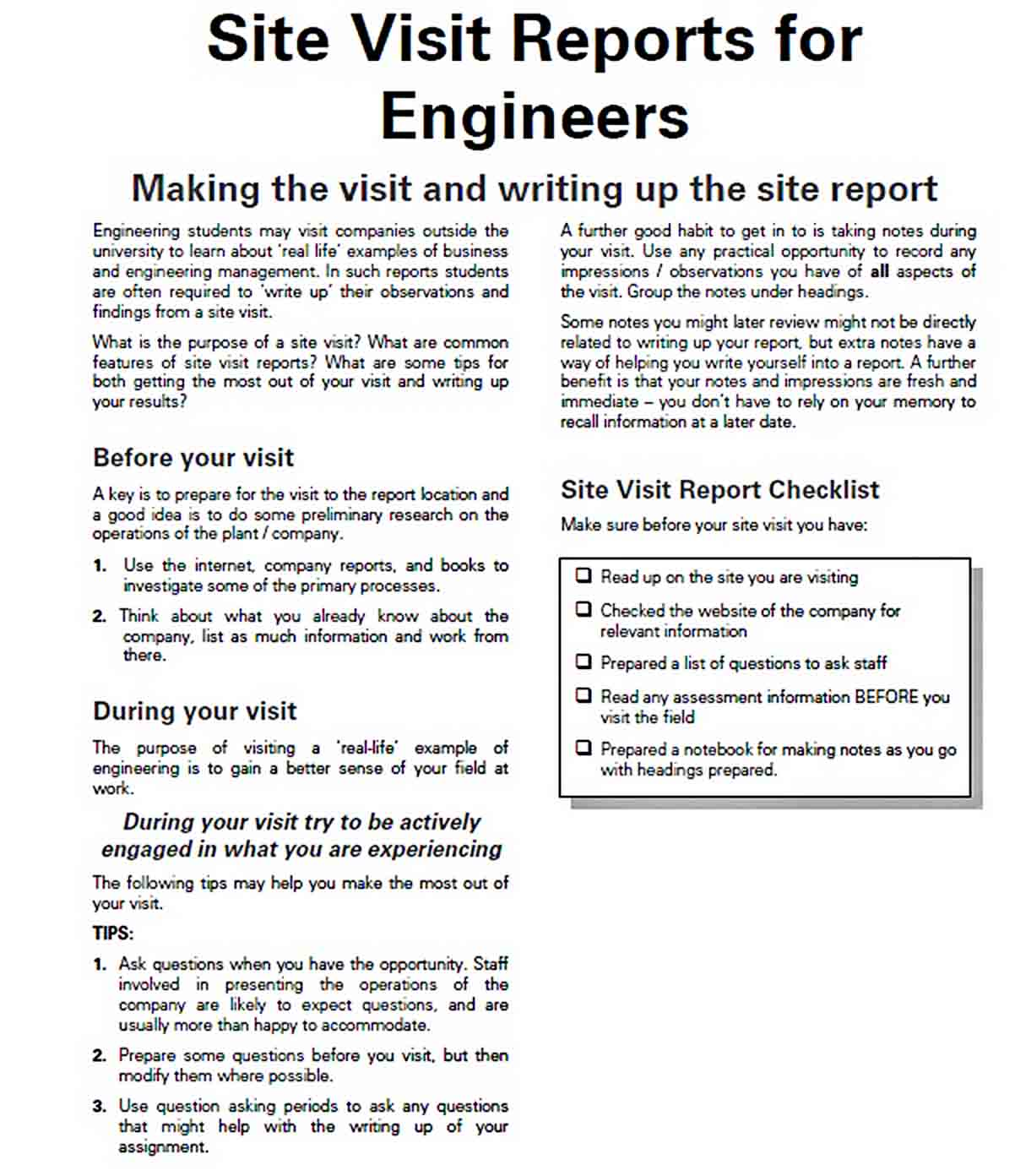 Templates Engineer Site Report