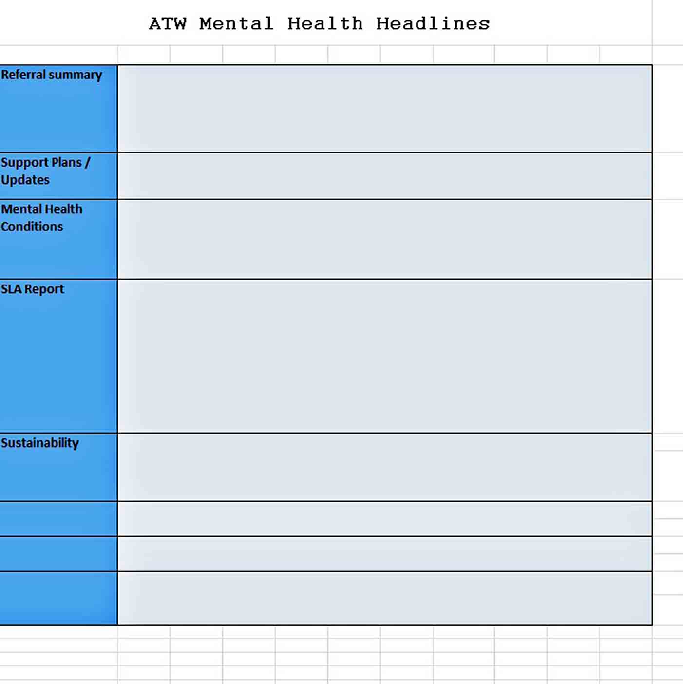 Templates Health Monthly Management Excel Report