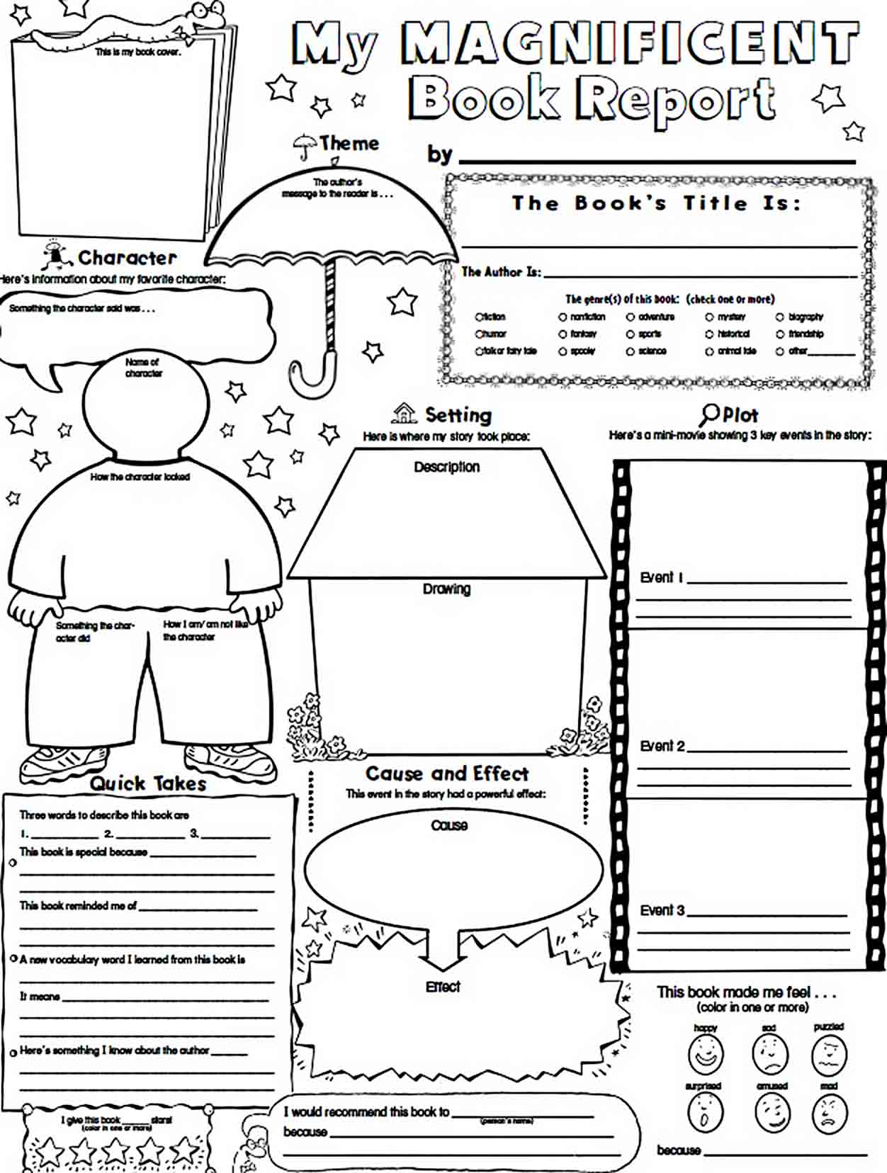 Templates Magnificent Book Report Sample Download