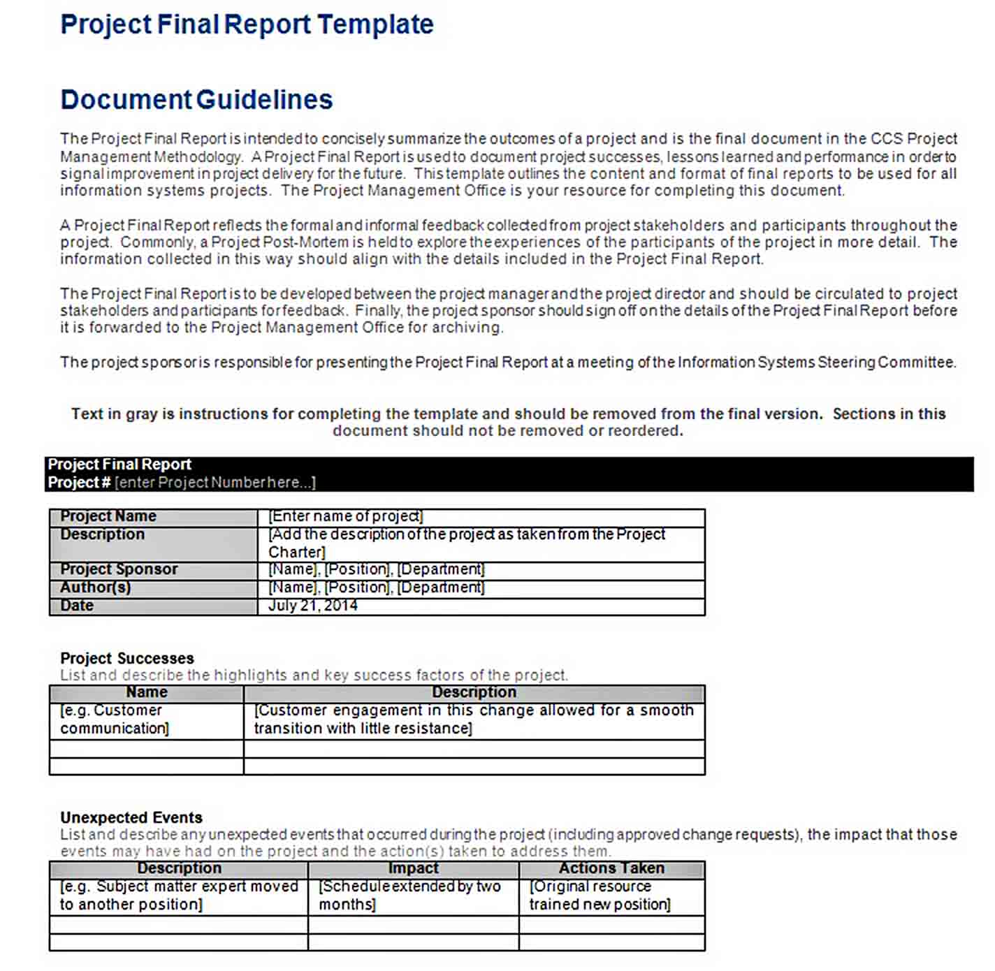 Templates Project Final Report