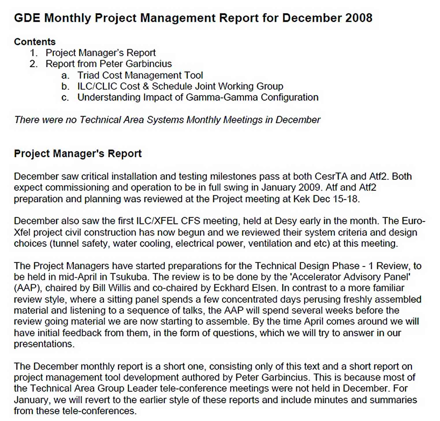 Templates Sample Project Closure Report 1 1