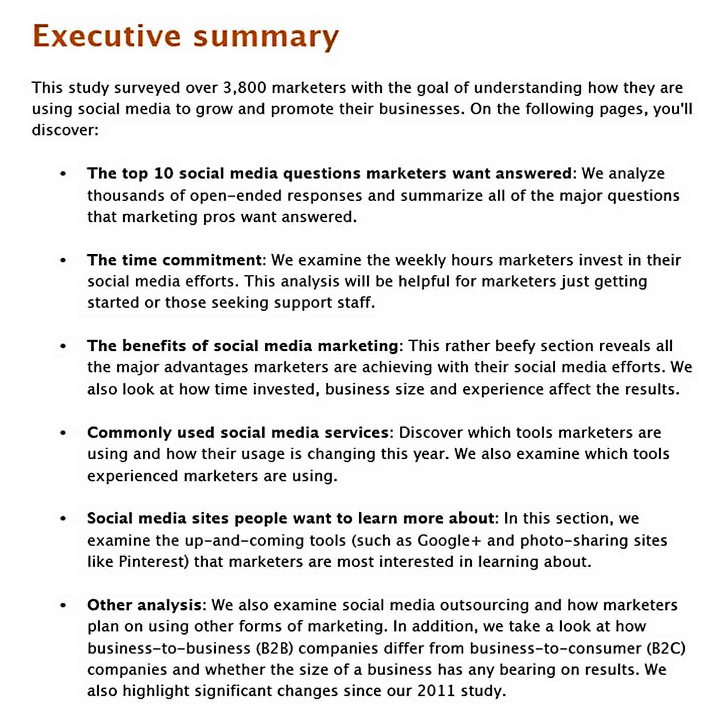 Templates Social Media Marketing Industry Report