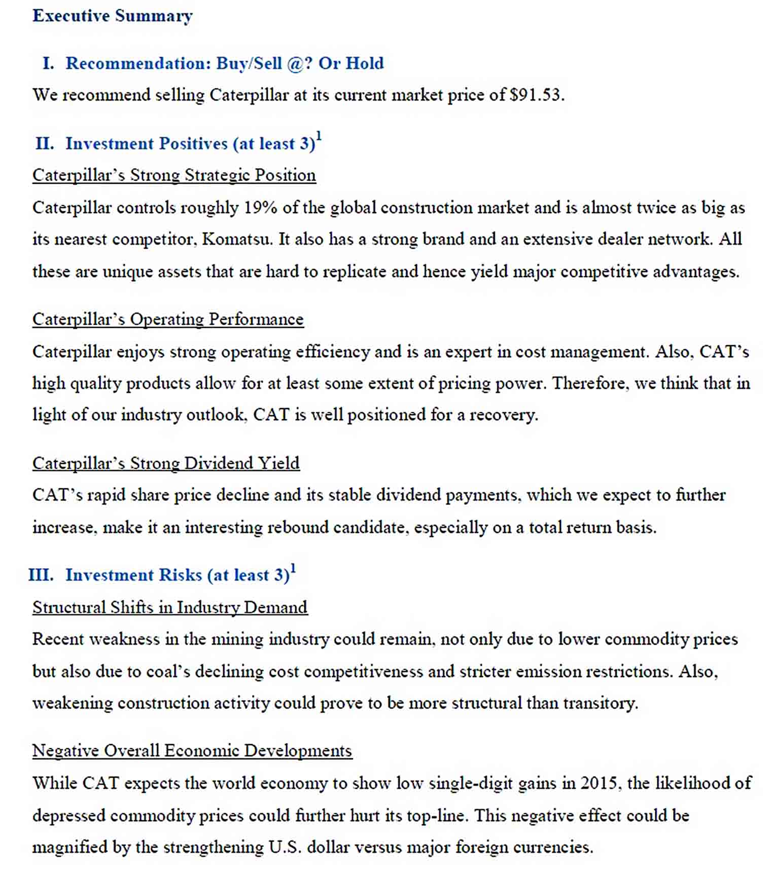 Templates Stock Valuation Report