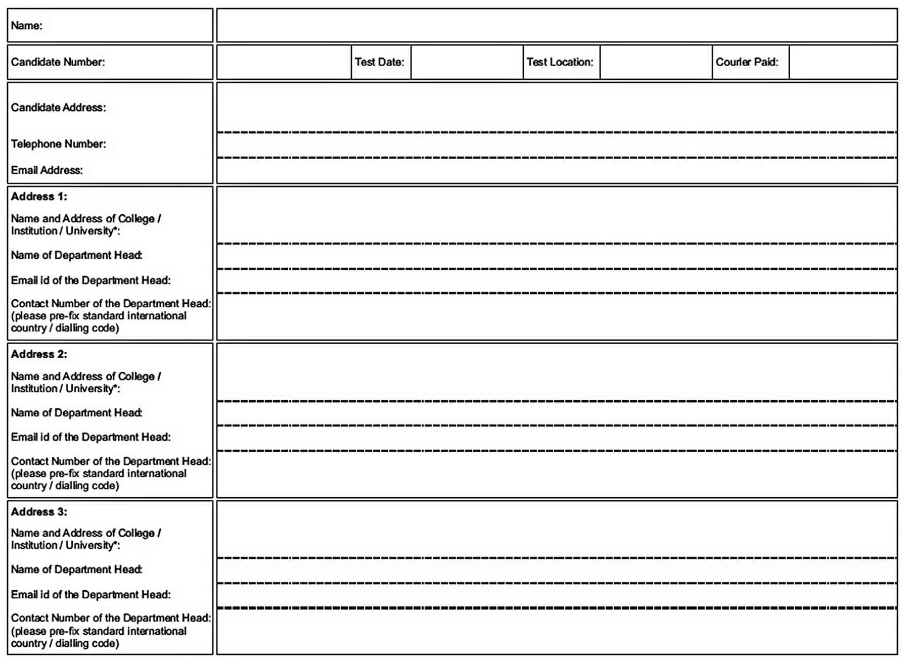 Templates Test Report Form 1