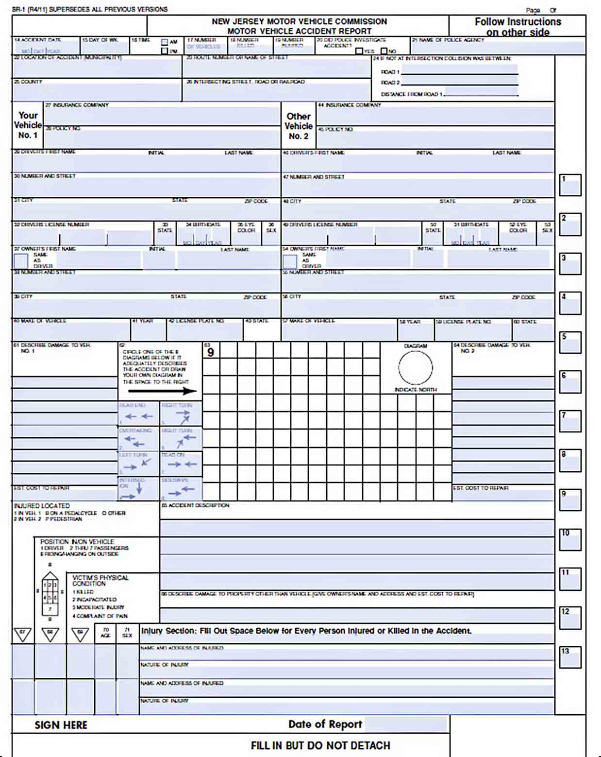 Templates Vehicle Accident Report Forms