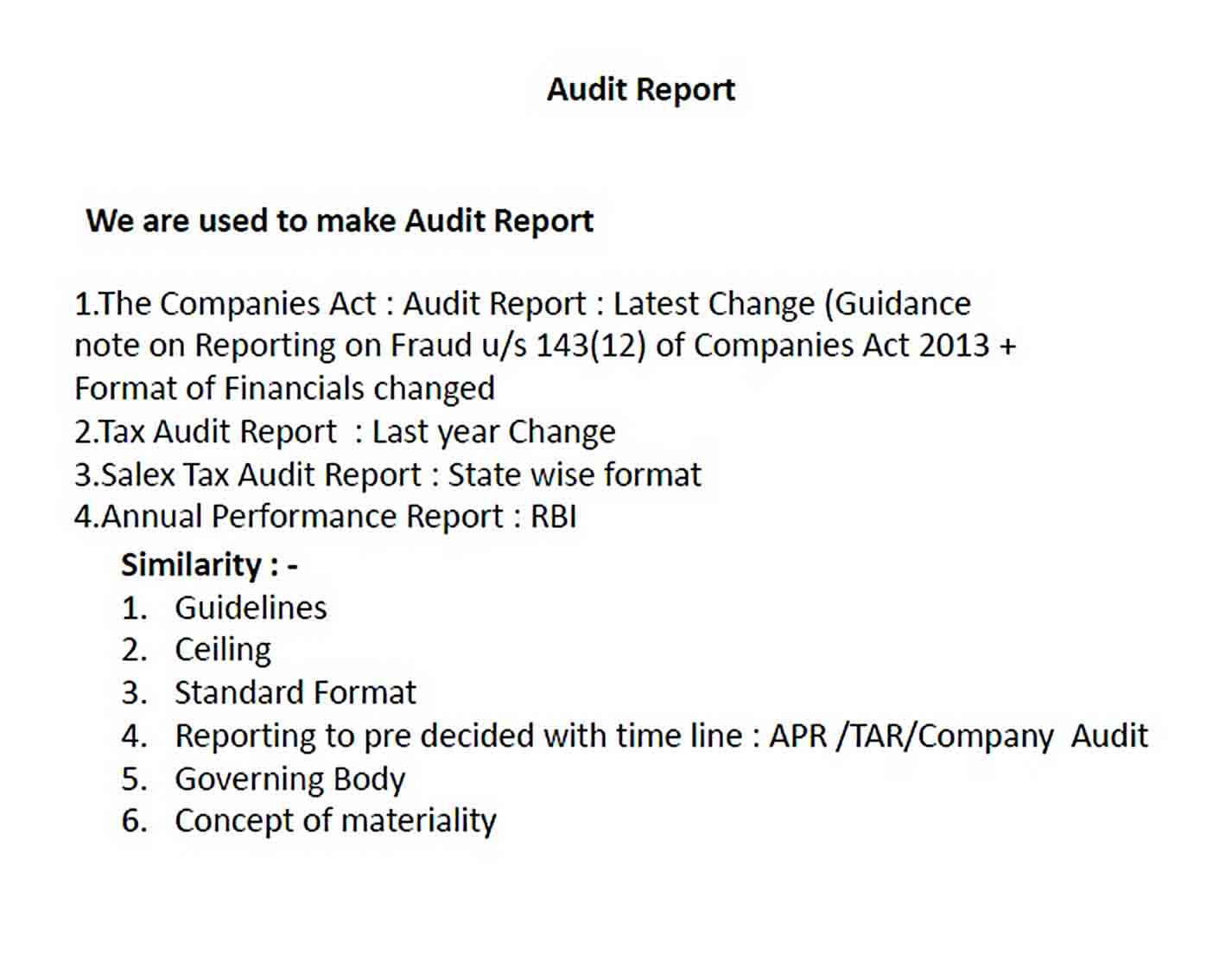 Templates forensic audit report