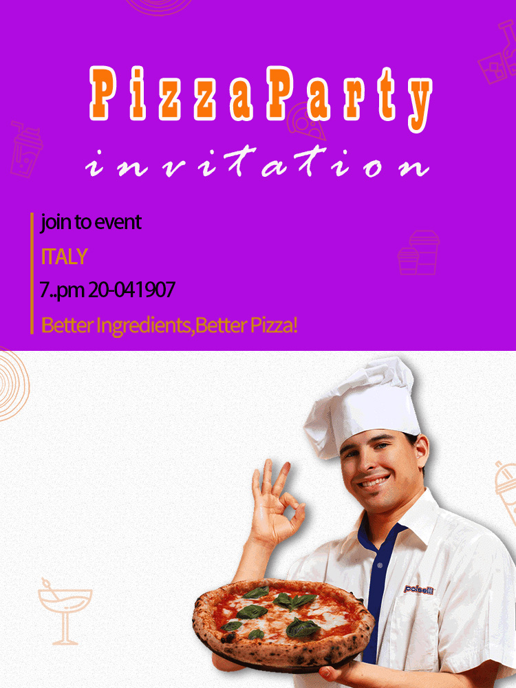 Pizza Party Invitation Template Sample